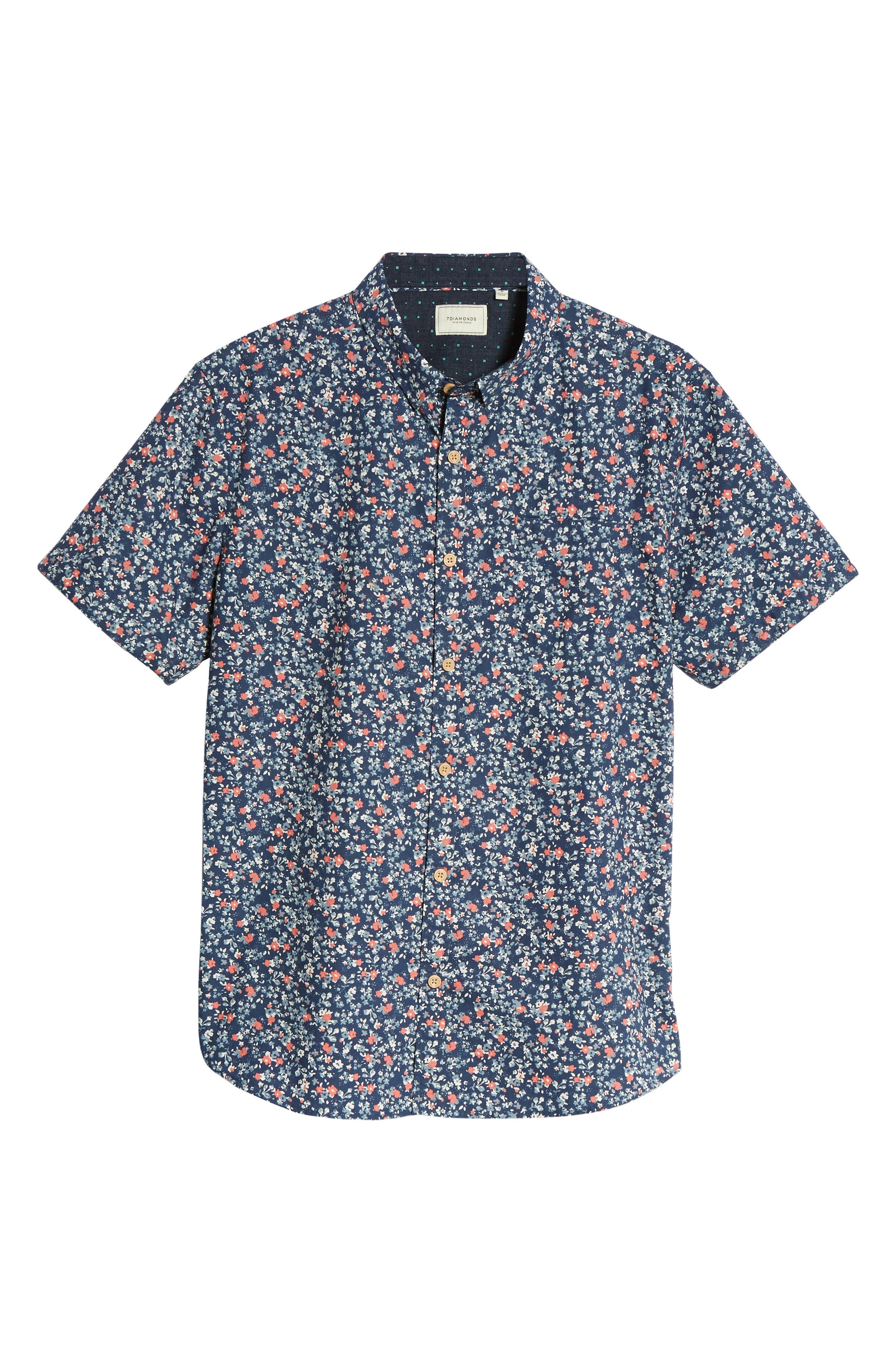 Memories Slim Fit Short Sleeve Sport Shirt,                             Alternate thumbnail 6, color,                             410