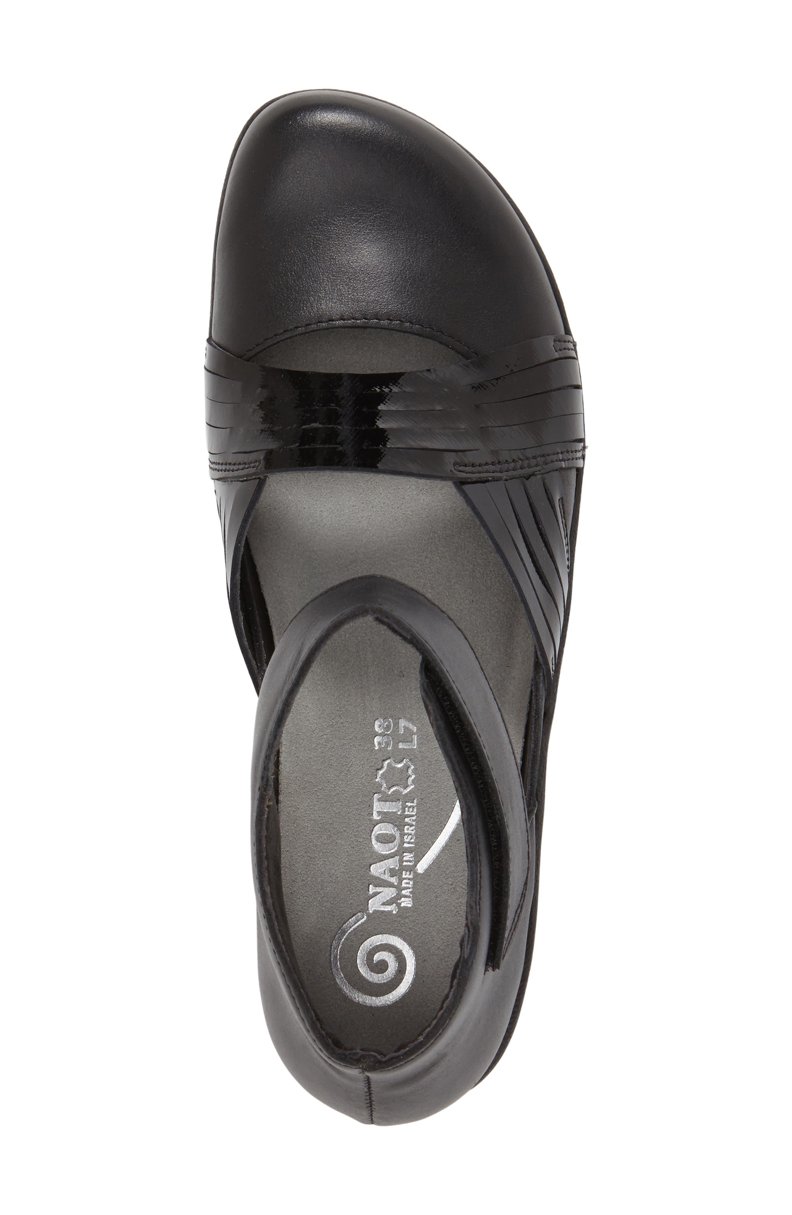 'Tenei' Ankle Strap Flat,                             Alternate thumbnail 6, color,                             BLACK RAVEN LEATHER