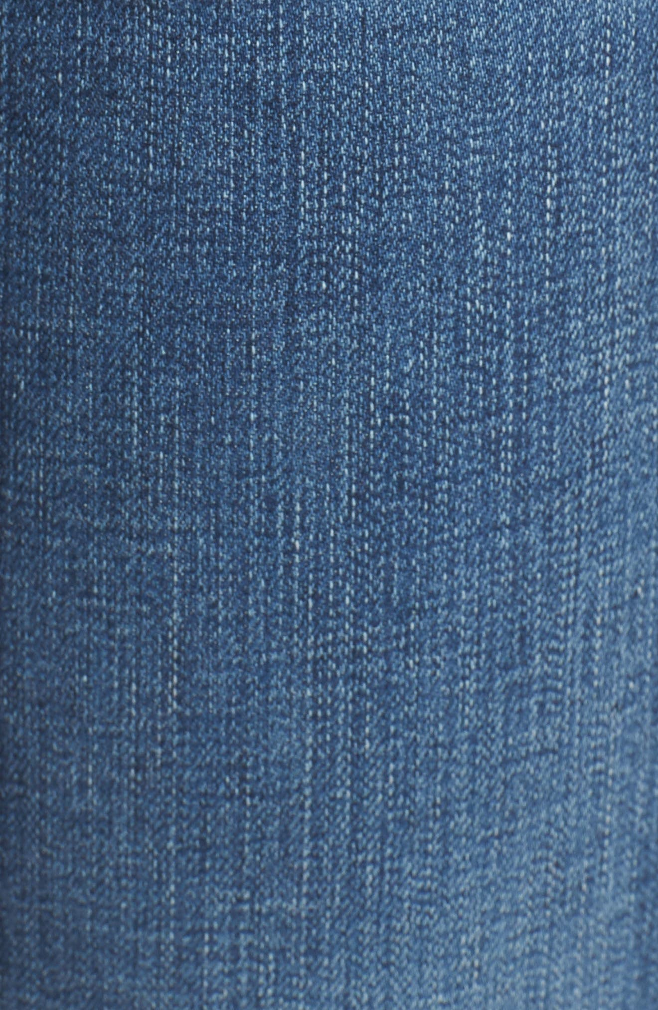 Prima Ripped Roll-Up Skinny Jeans,                             Alternate thumbnail 6, color,