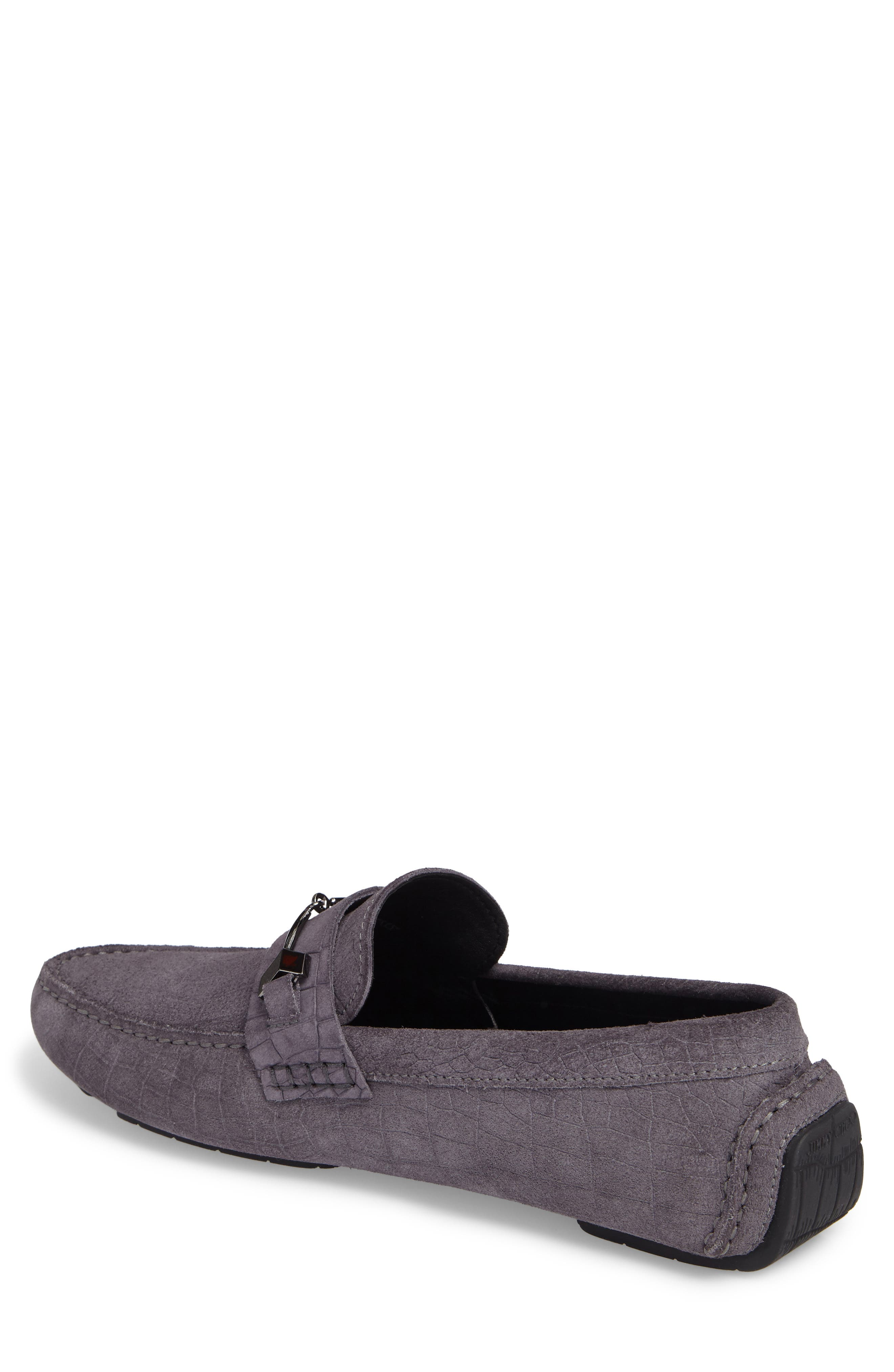 Brewer Croc Textured Driving Loafer,                             Alternate thumbnail 4, color,