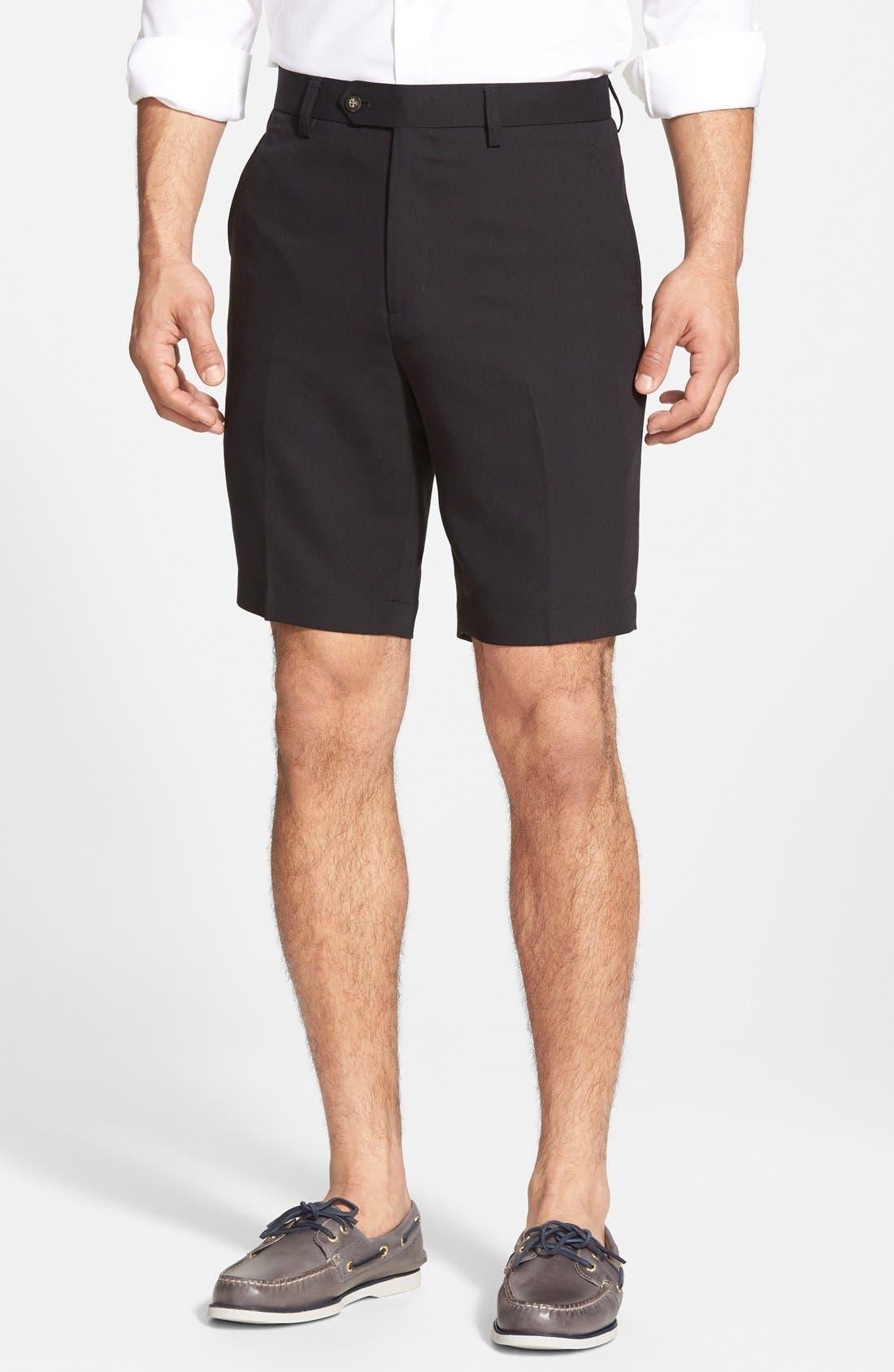 Microfiber Twill Shorts,                             Alternate thumbnail 5, color,                             001