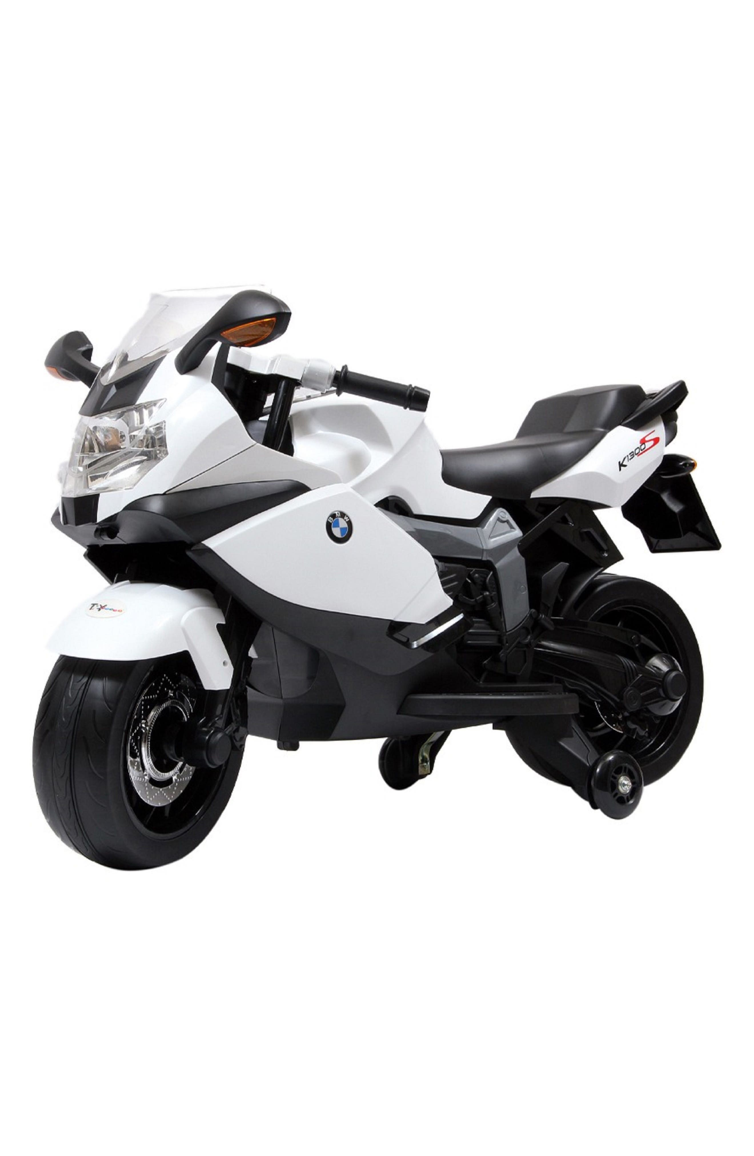 BMW Ride-On Toy Motorcycle,                         Main,                         color, WHITE