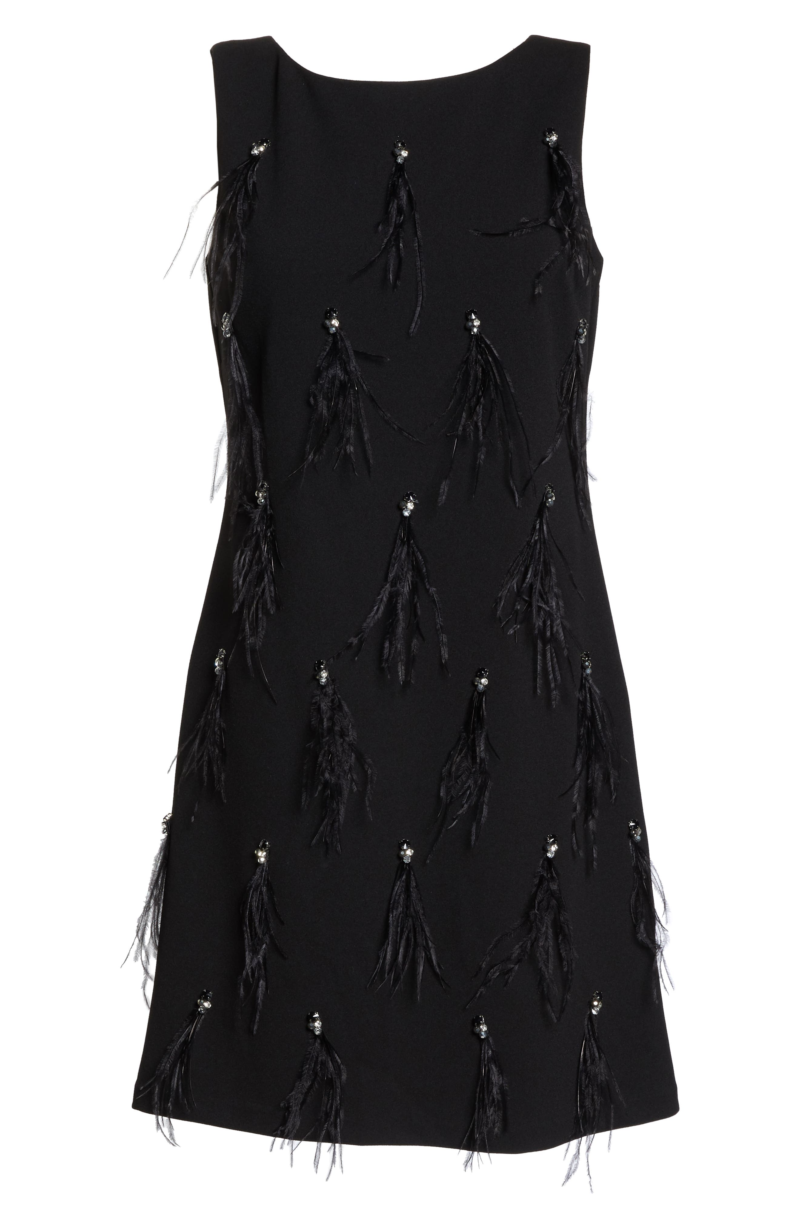 HARPER ROSE,                             Embellished Sheath Dress,                             Alternate thumbnail 7, color,                             BLACK