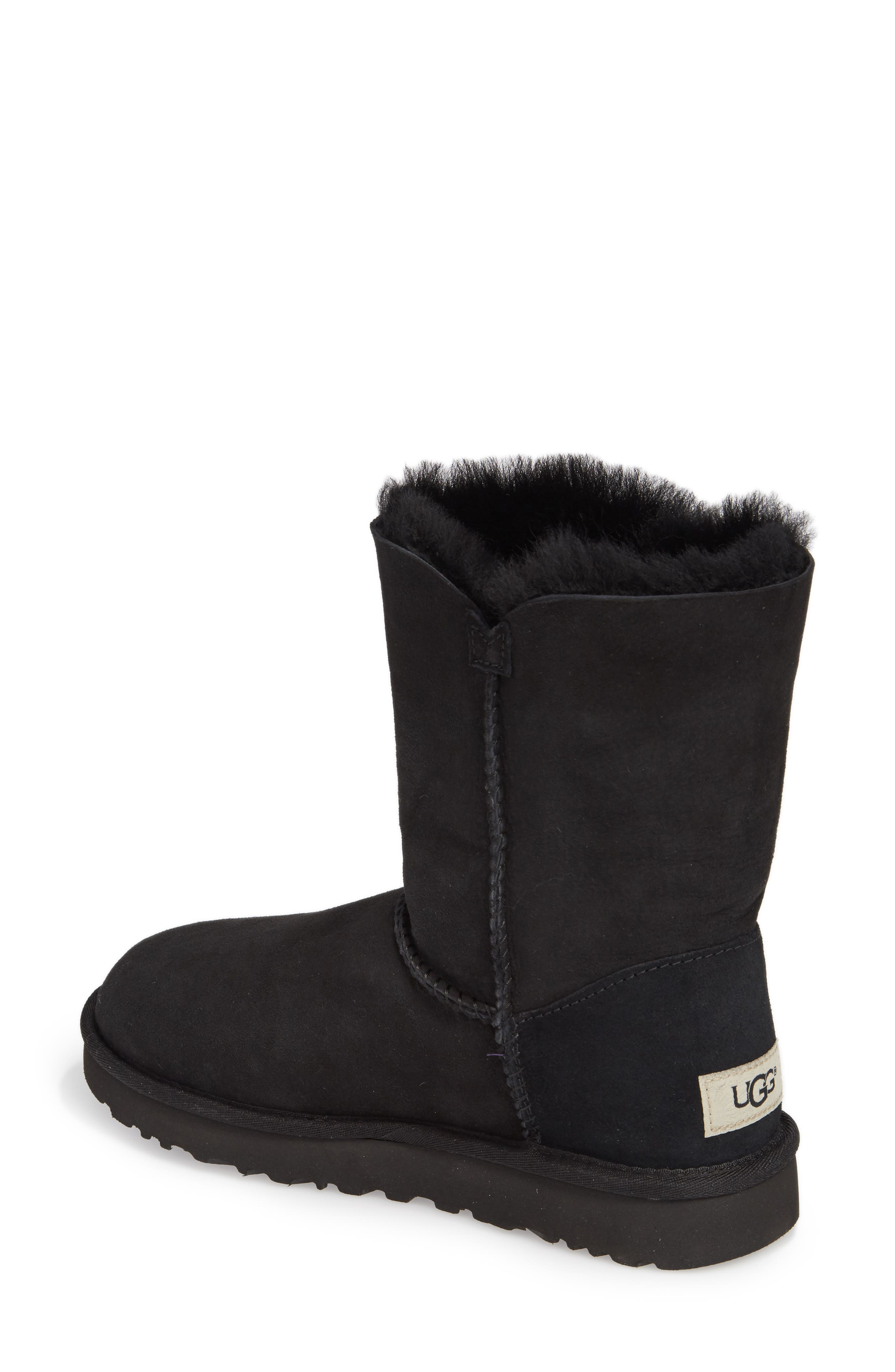 Bailey Button Poppy Genuine Shearling Boot,                             Alternate thumbnail 2, color,                             001
