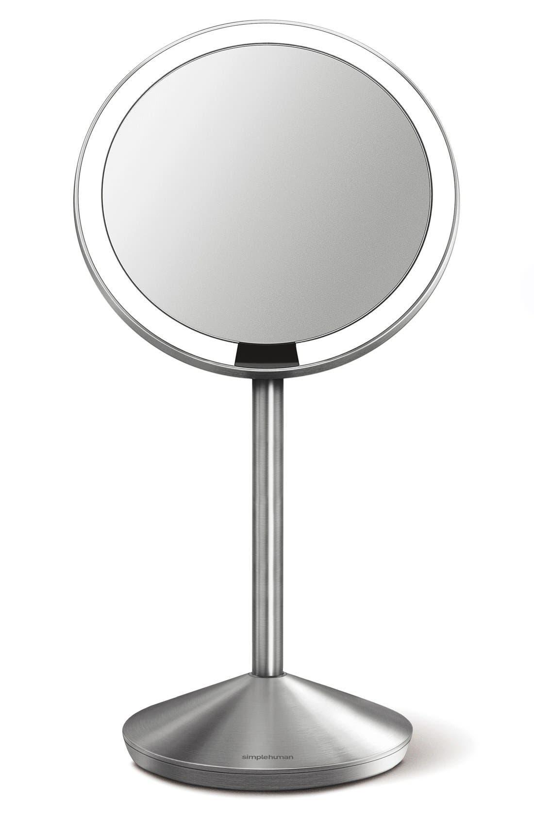 Mini Countertop Sensor Makeup Mirror,                         Main,                         color, SILVER