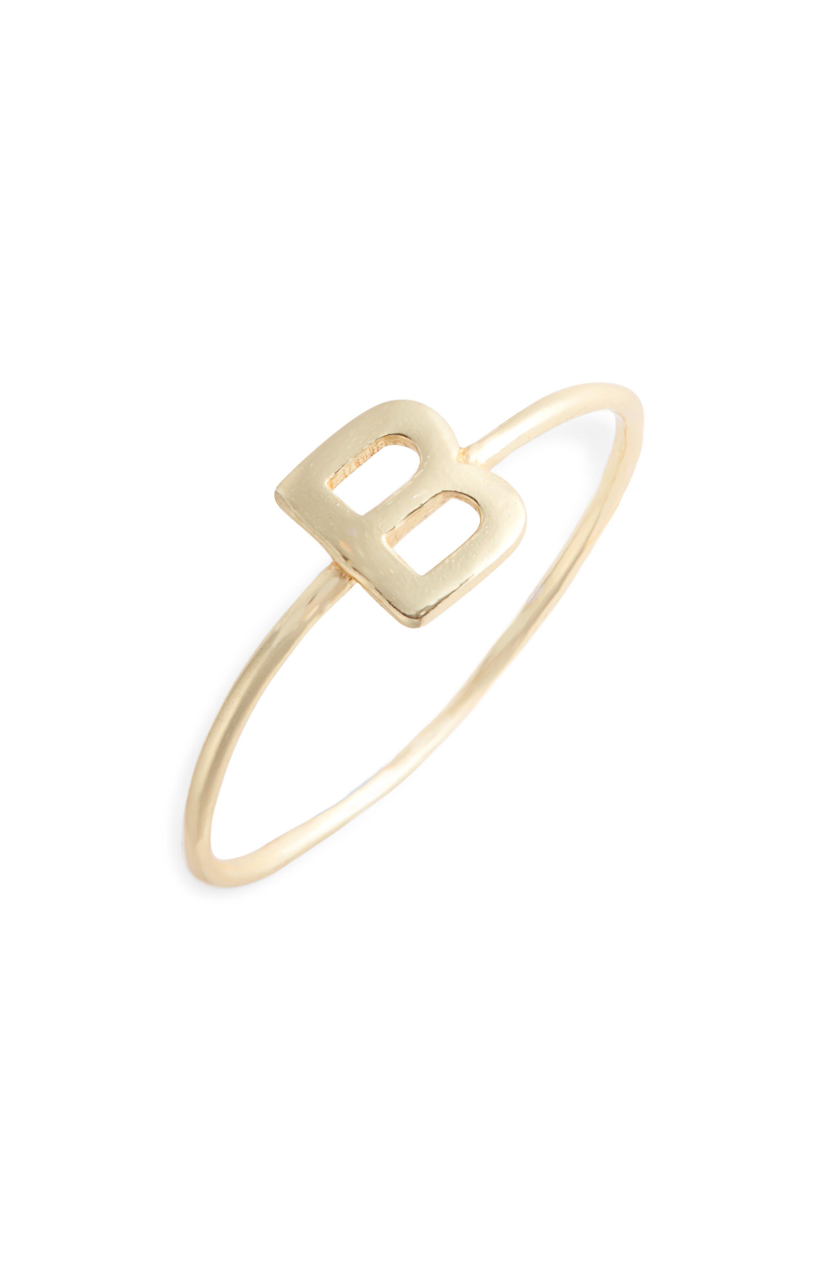 Alphabet Ring,                         Main,                         color, B/ GOLD