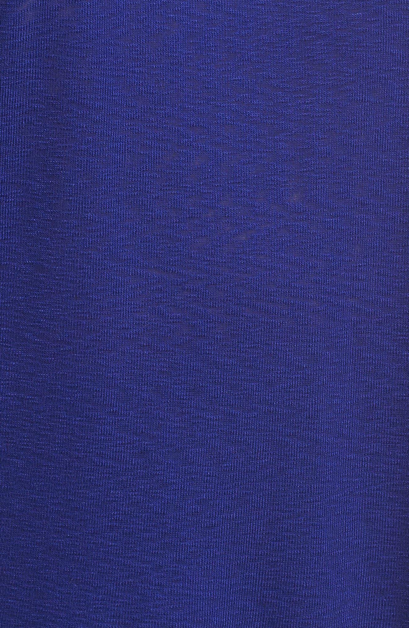 Flutter Sleeve Tee,                             Alternate thumbnail 5, color,                             ROYAL BLUE