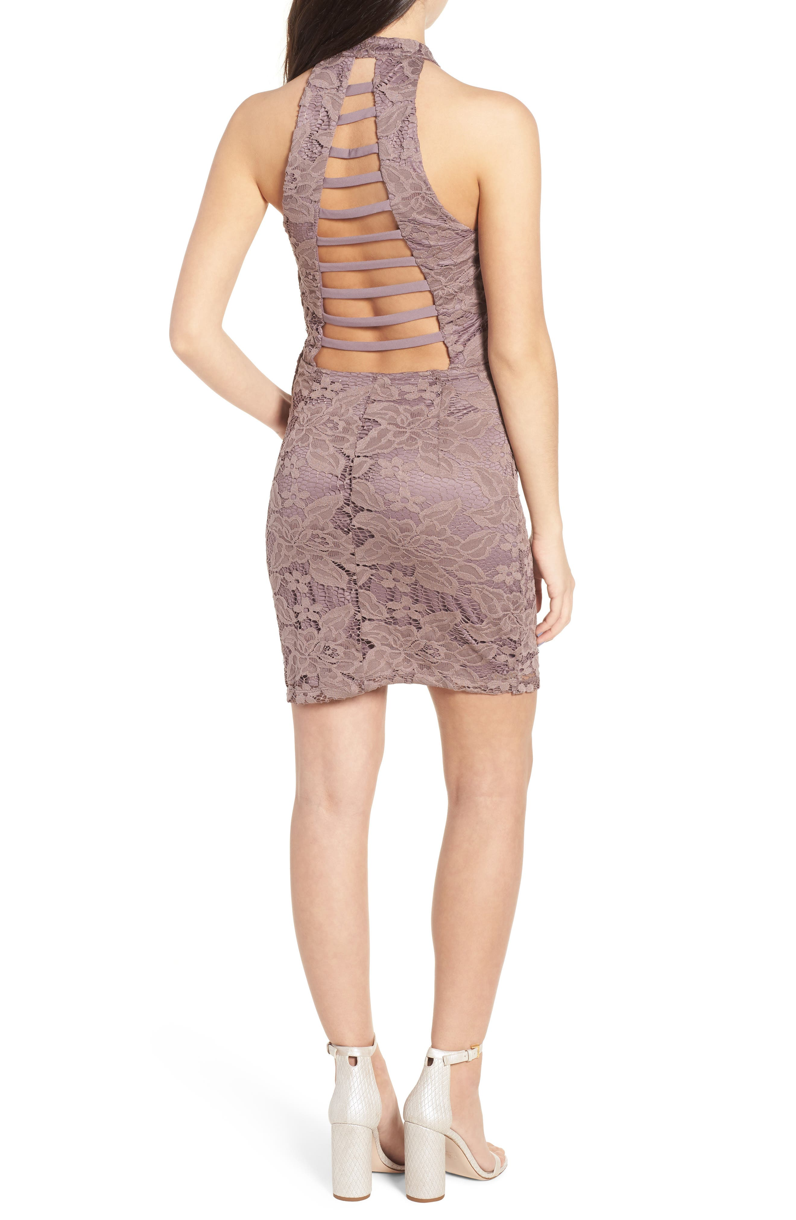 Lace Body-Con Minidress,                             Alternate thumbnail 2, color,                             650