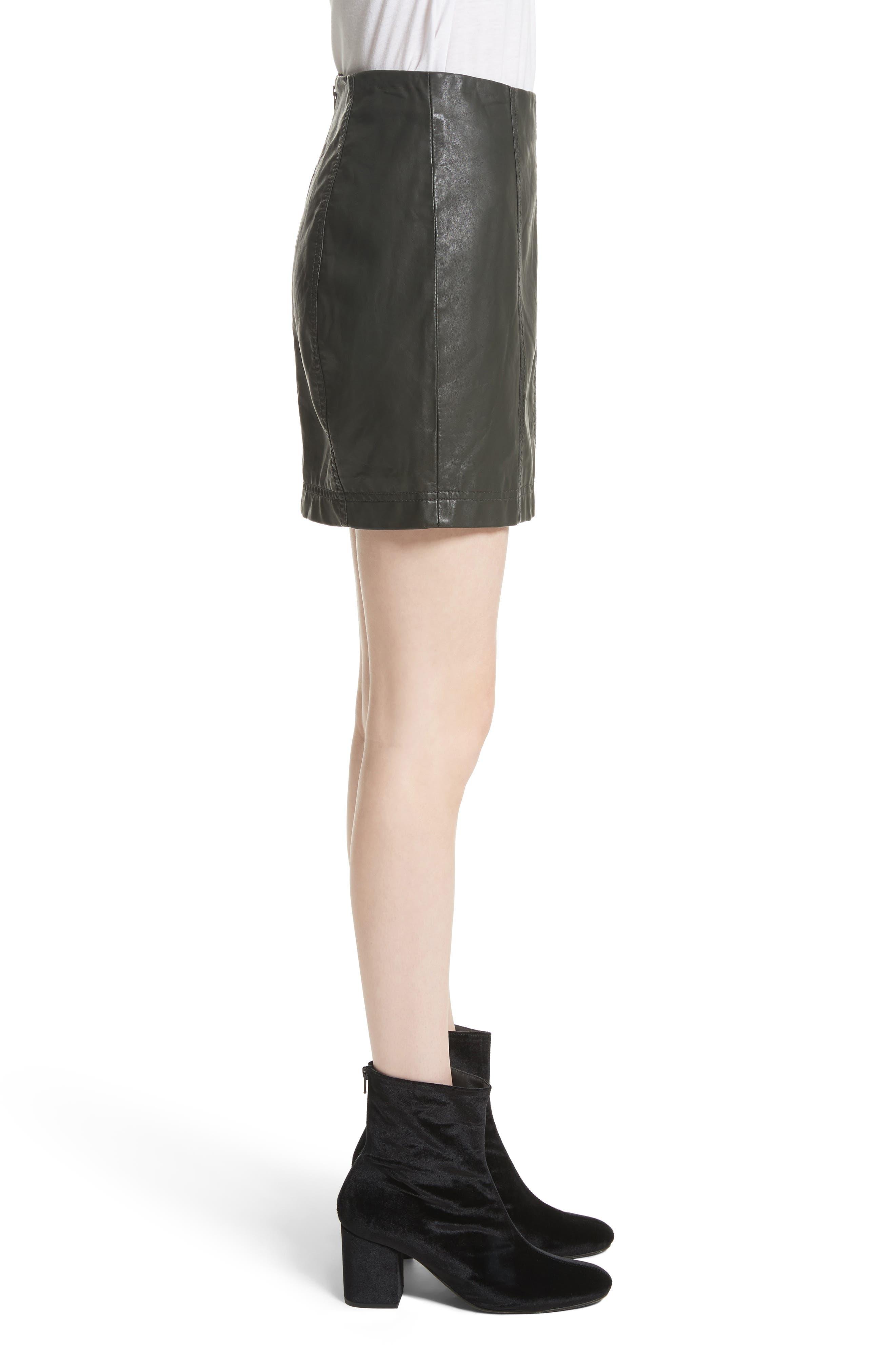 Modern Femme Faux Leather Miniskirt,                             Alternate thumbnail 3, color,                             300