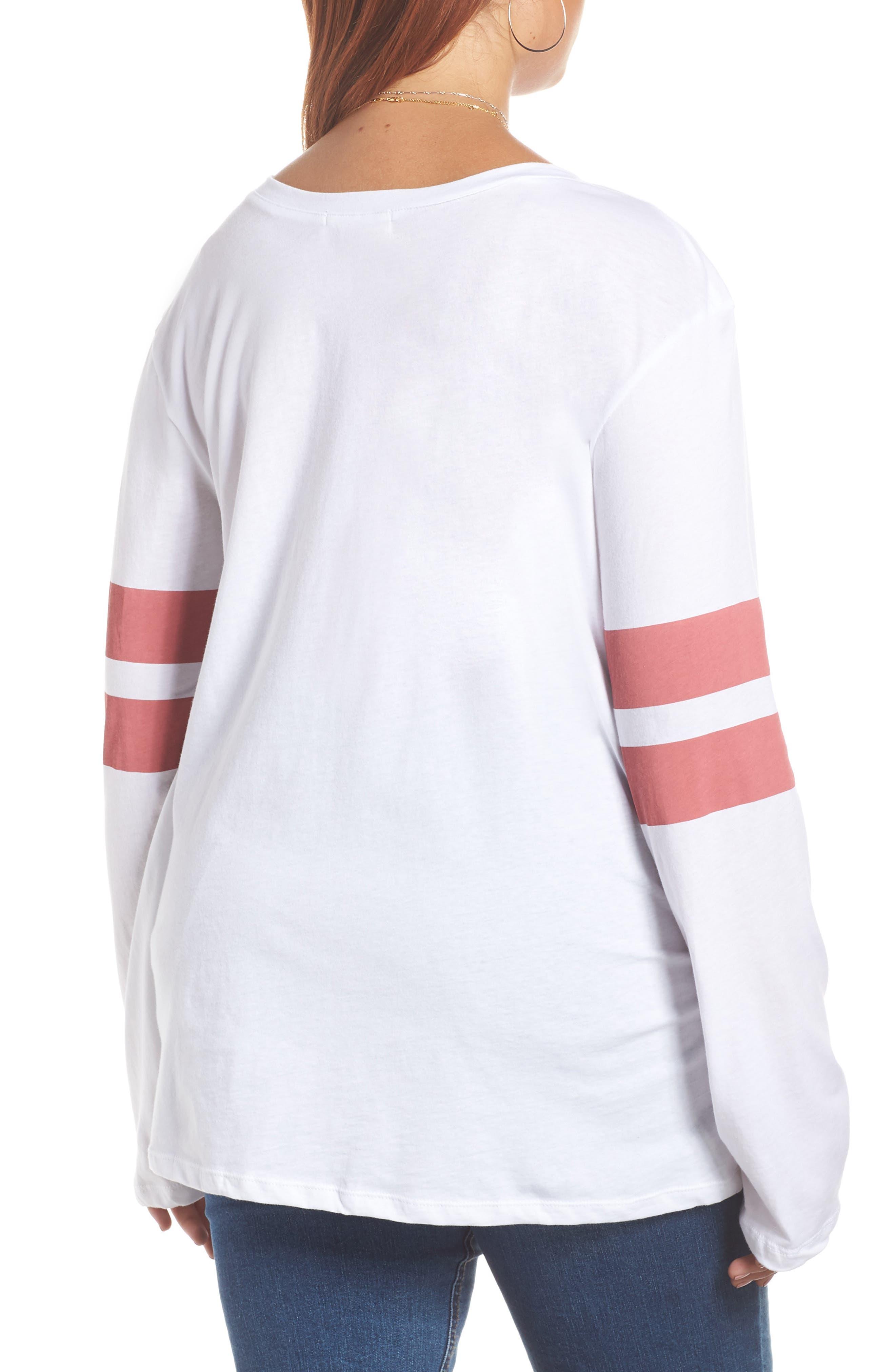 Varsity Stripe Tee,                             Alternate thumbnail 9, color,                             WHITE- RED BAROQUE COMBO