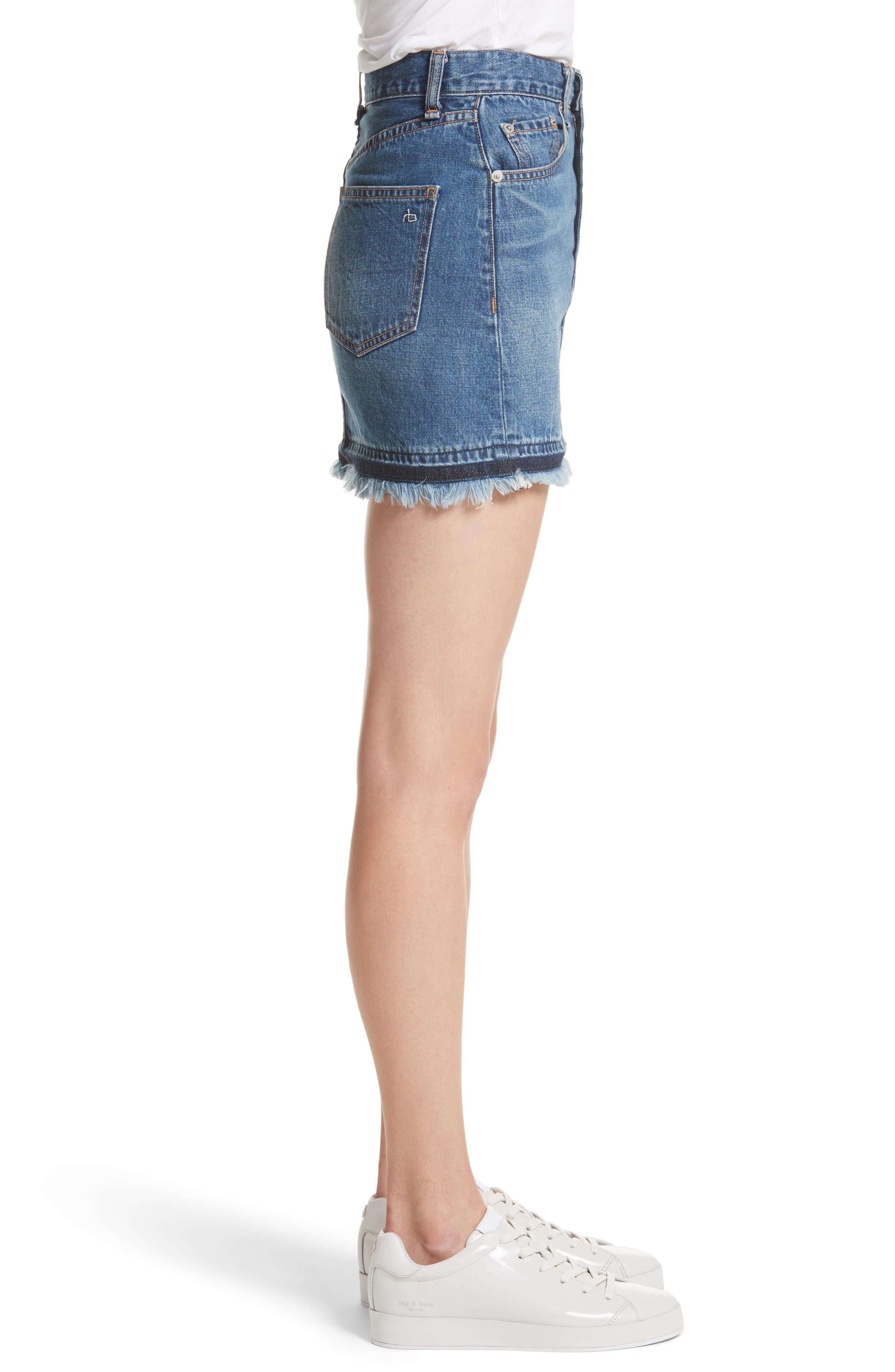 Dive Denim Skirt,                             Alternate thumbnail 3, color,                             472