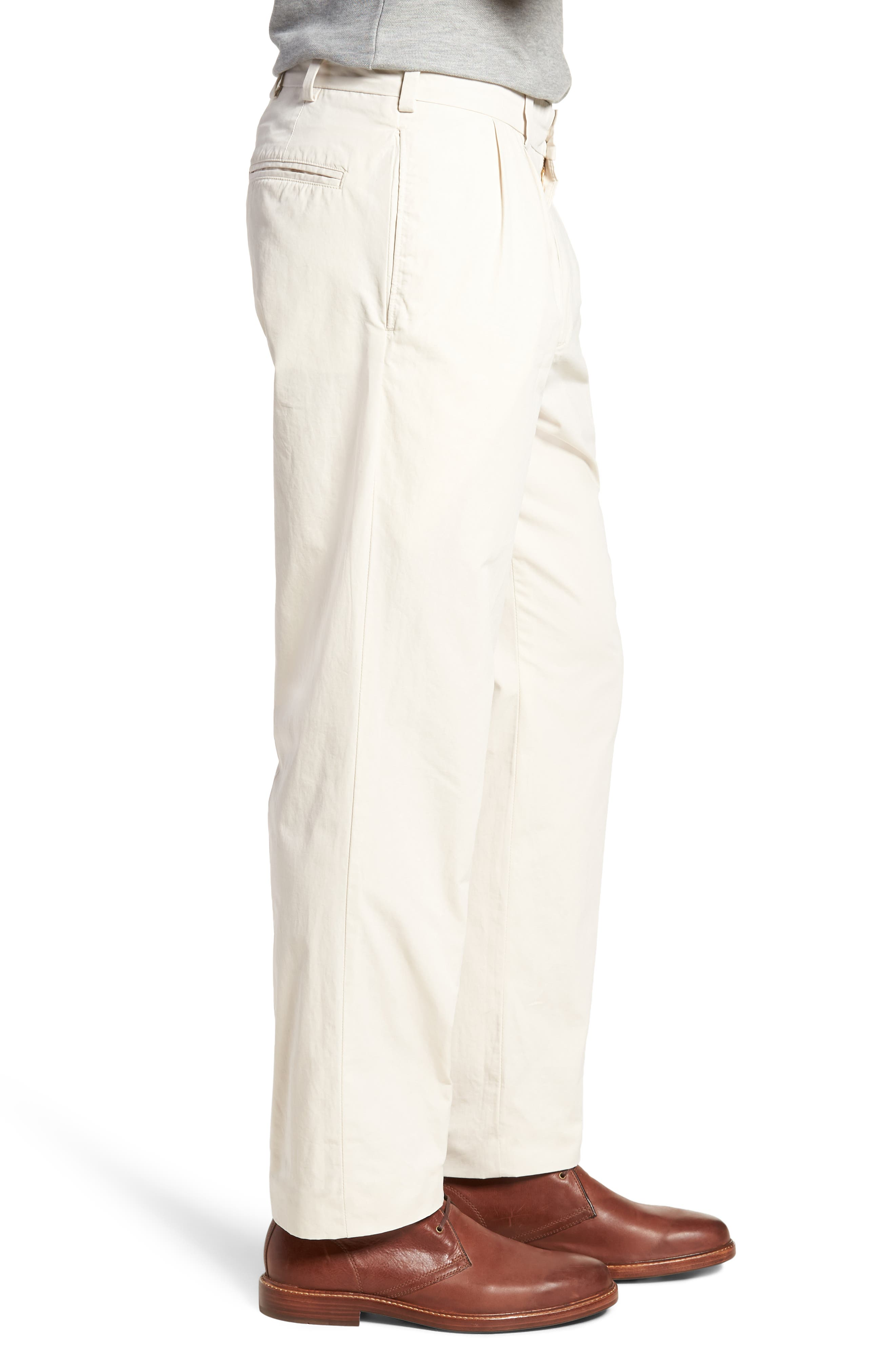 M2 Classic Fit Pleated Tropical Cotton Poplin Pants,                             Alternate thumbnail 3, color,