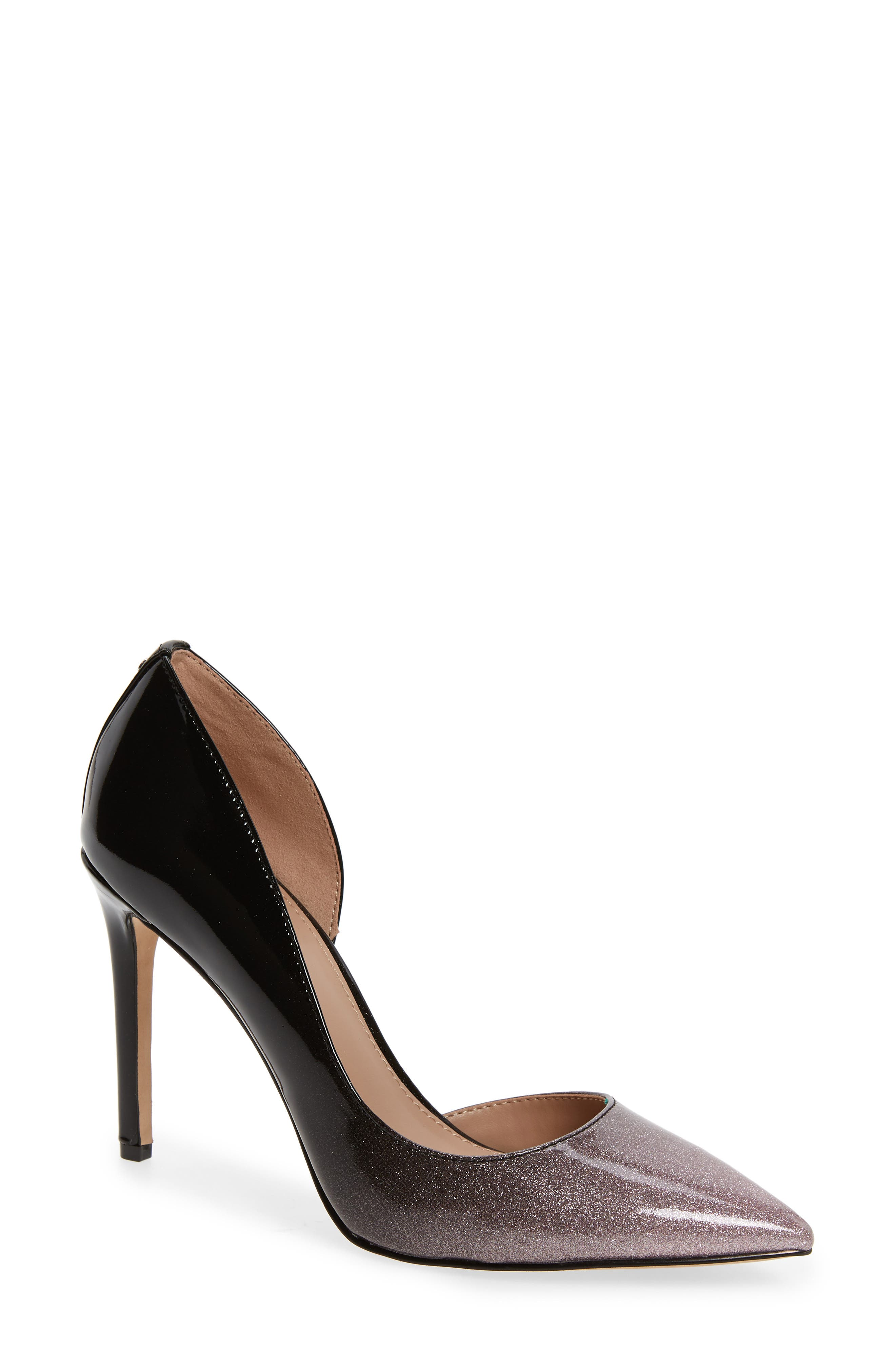 BCBG Lenny Half D'Orsay Pump in Ombre Pink Patent Leather
