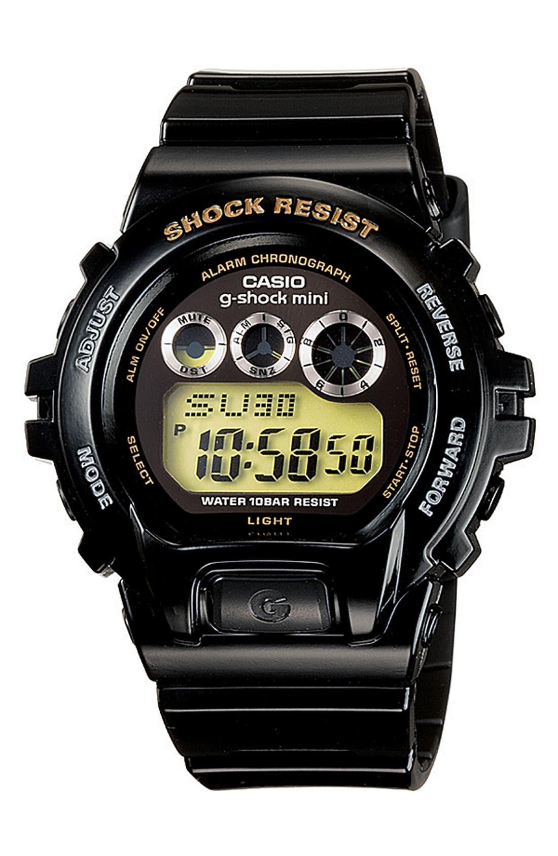 G-SHOCK BABY-G,                             Casio 'G-Shock Mini' Watch,                             Main thumbnail 1, color,                             001