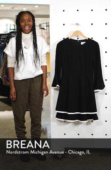 Bell Sleeve Fit & Flare Dress, sales video thumbnail