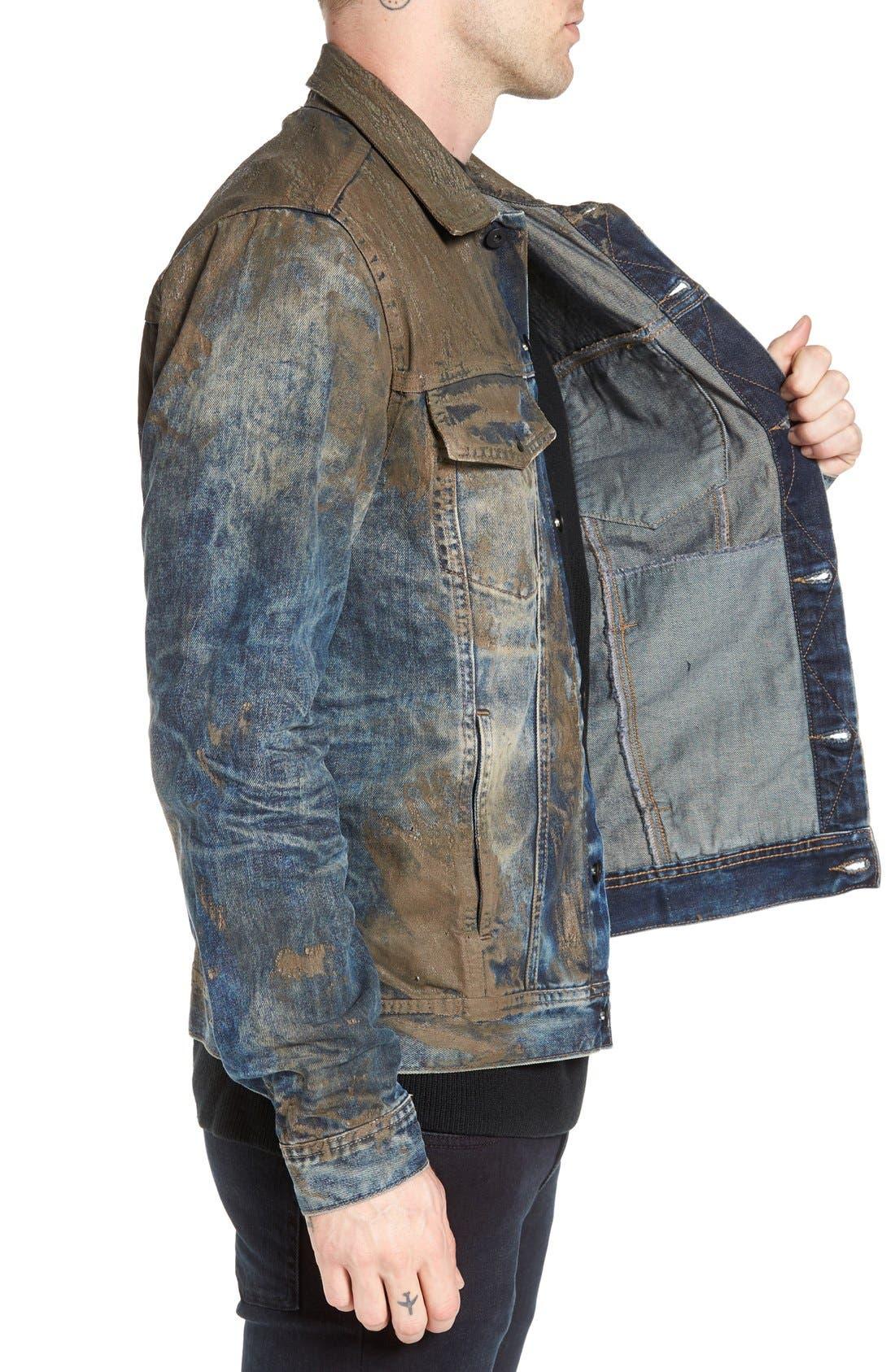 Mud Denim Jacket,                             Alternate thumbnail 3, color,                             490