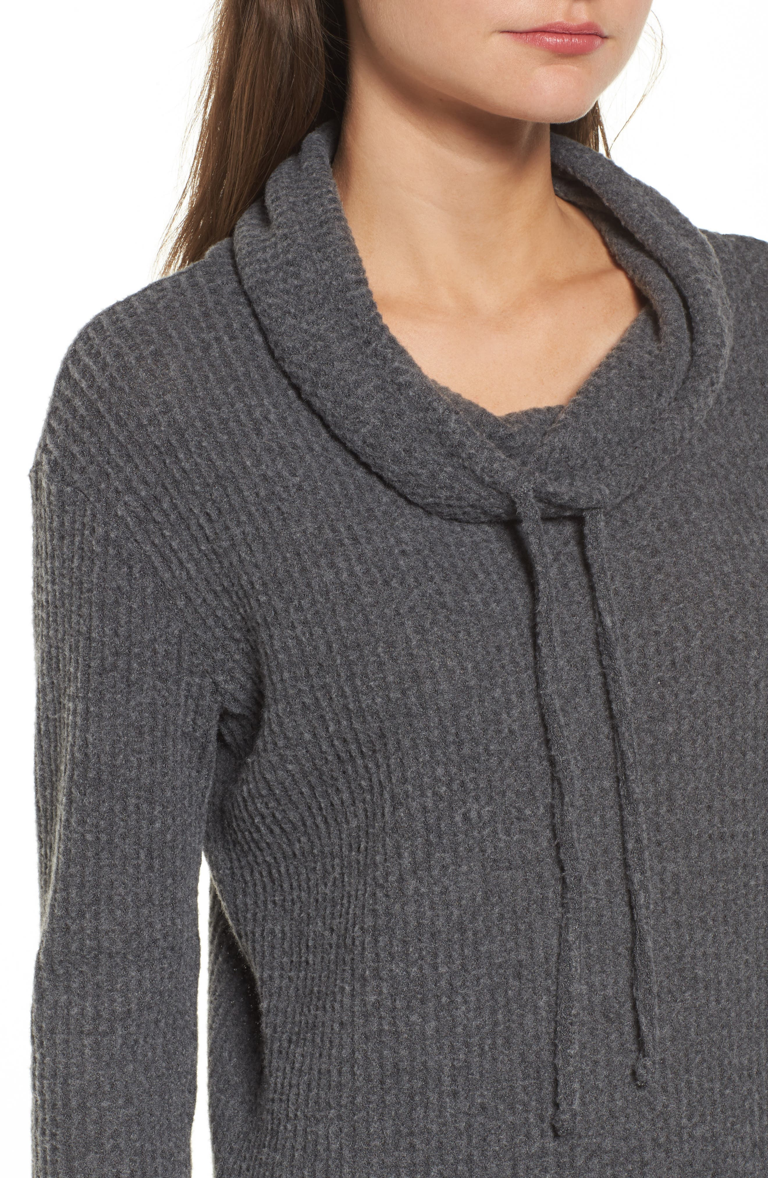 Cowl Neck Waffle Knit Top,                             Alternate thumbnail 14, color,