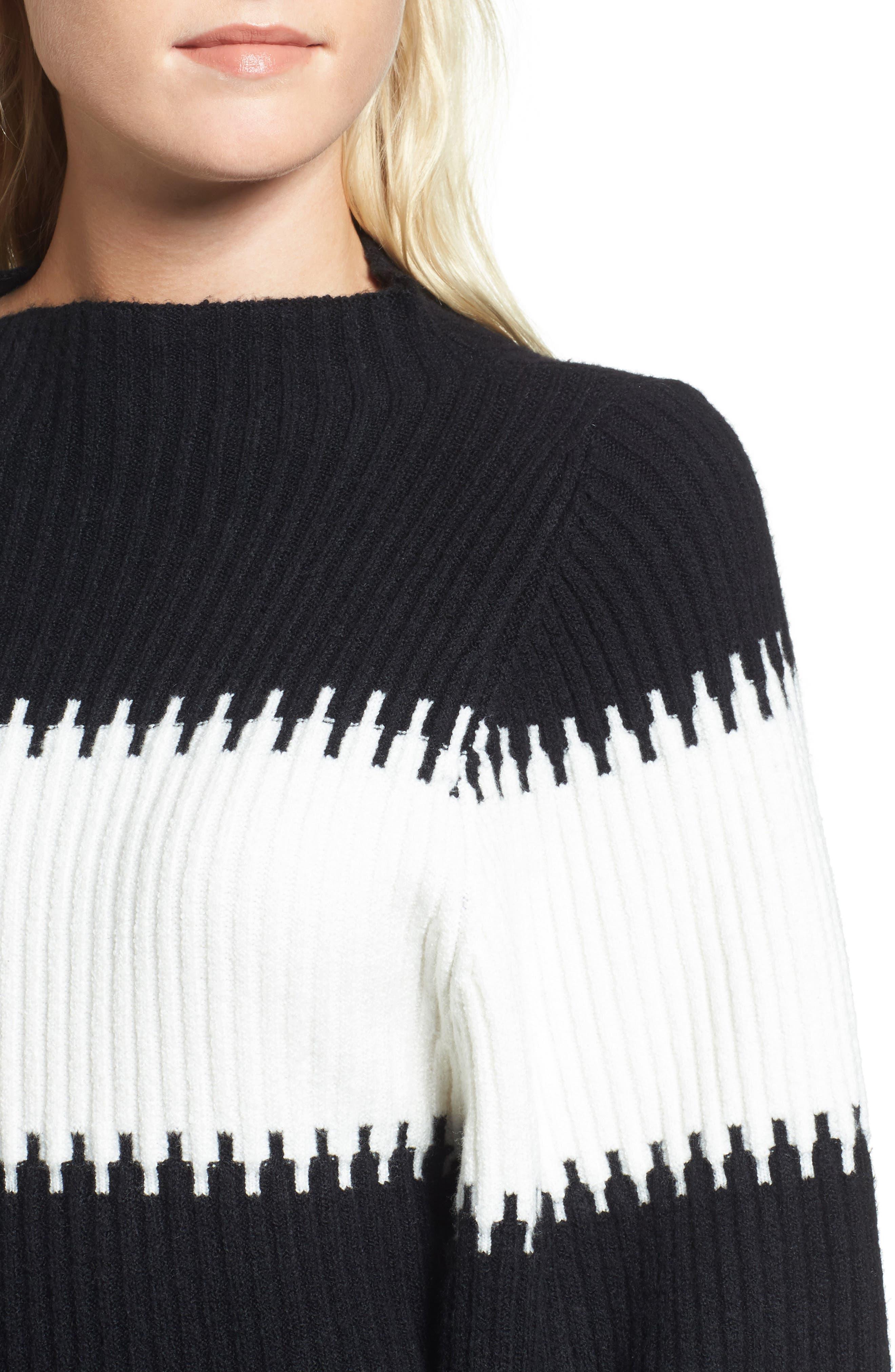 Sofia Puff Sleeve Sweater,                             Alternate thumbnail 4, color,                             001