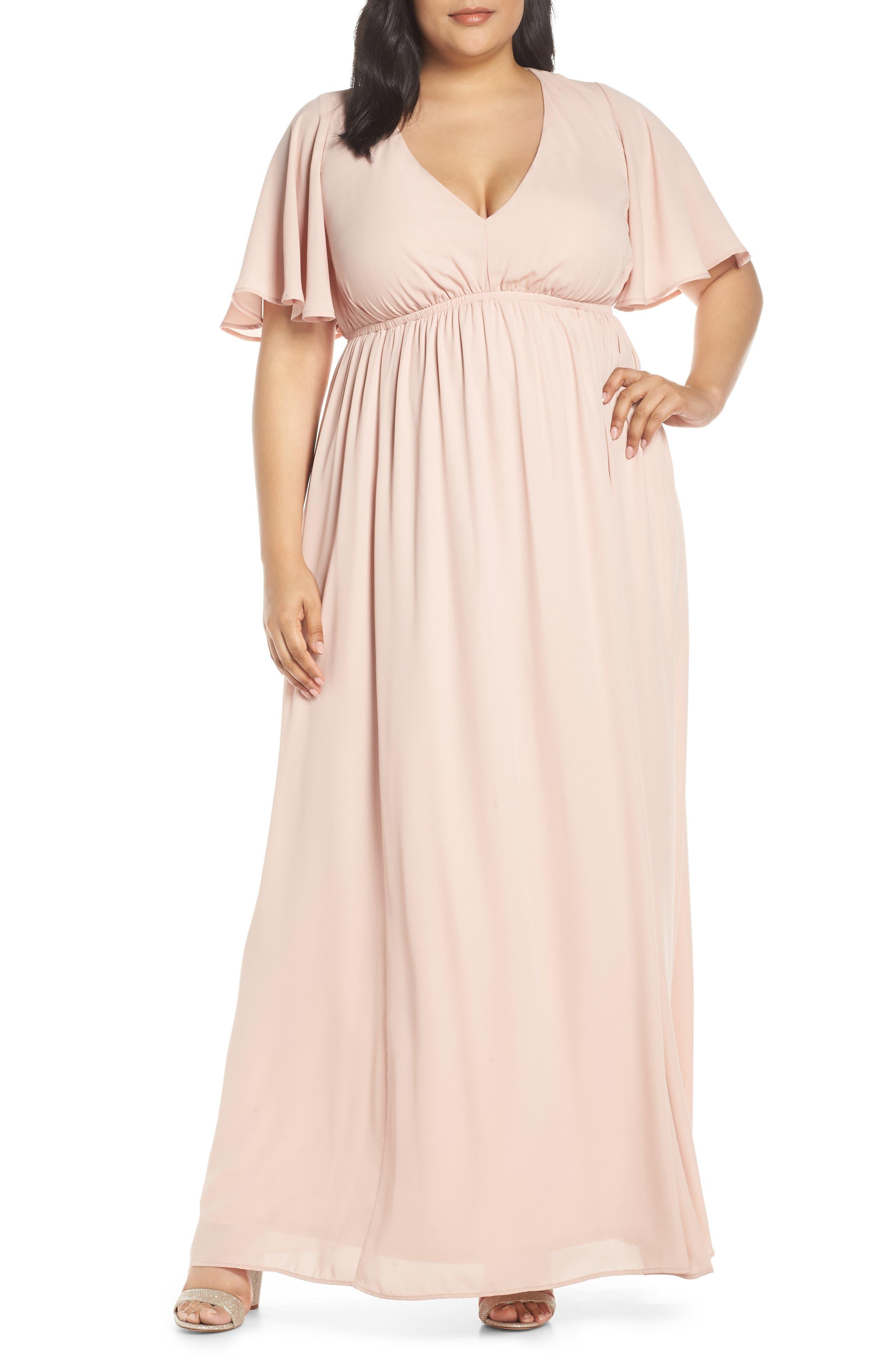 Plus Size Show Me Your Mumu Emily Evening Dress, Pink