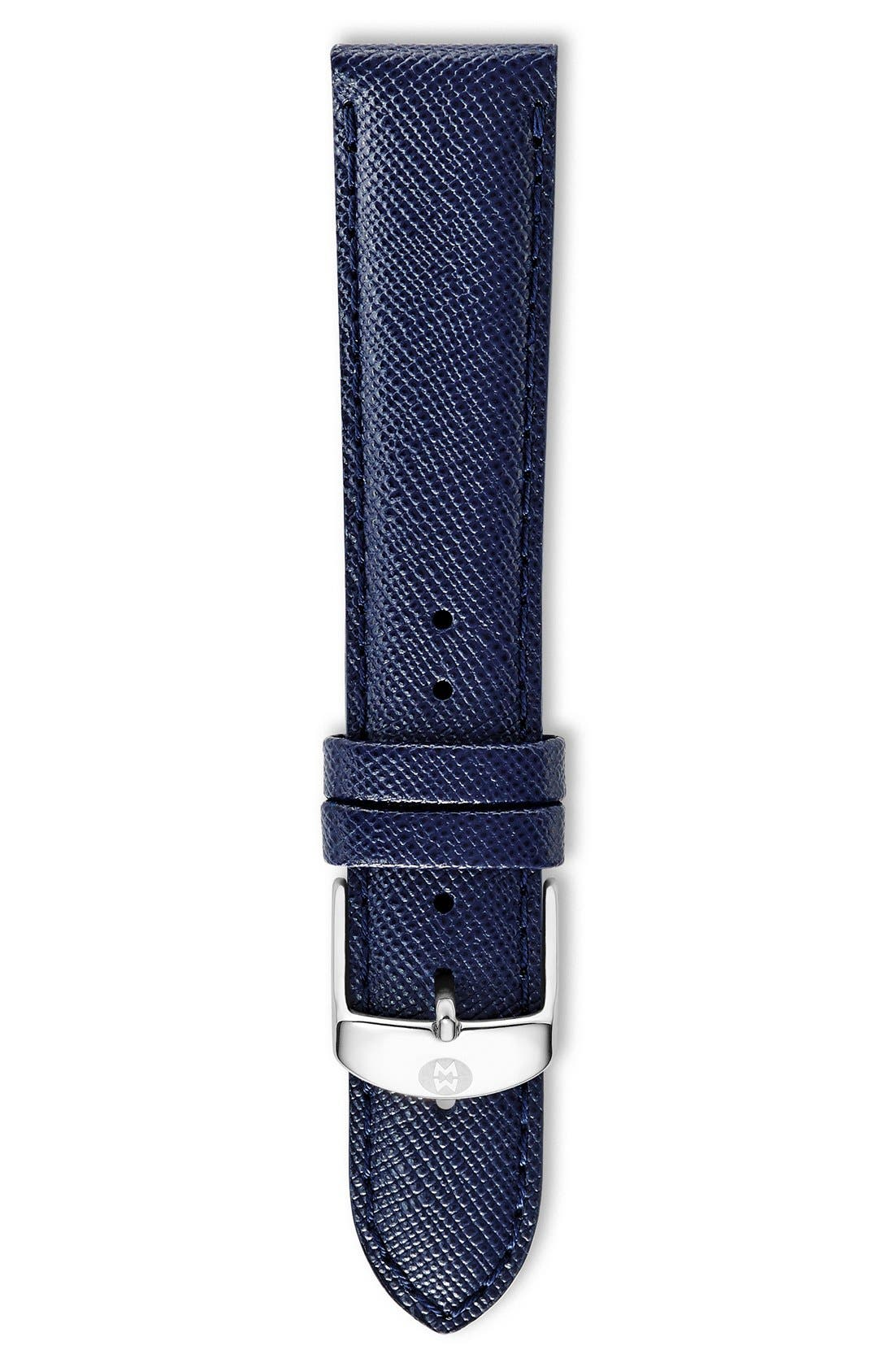16mm Saffiano Leather Watch Strap,                             Main thumbnail 5, color,