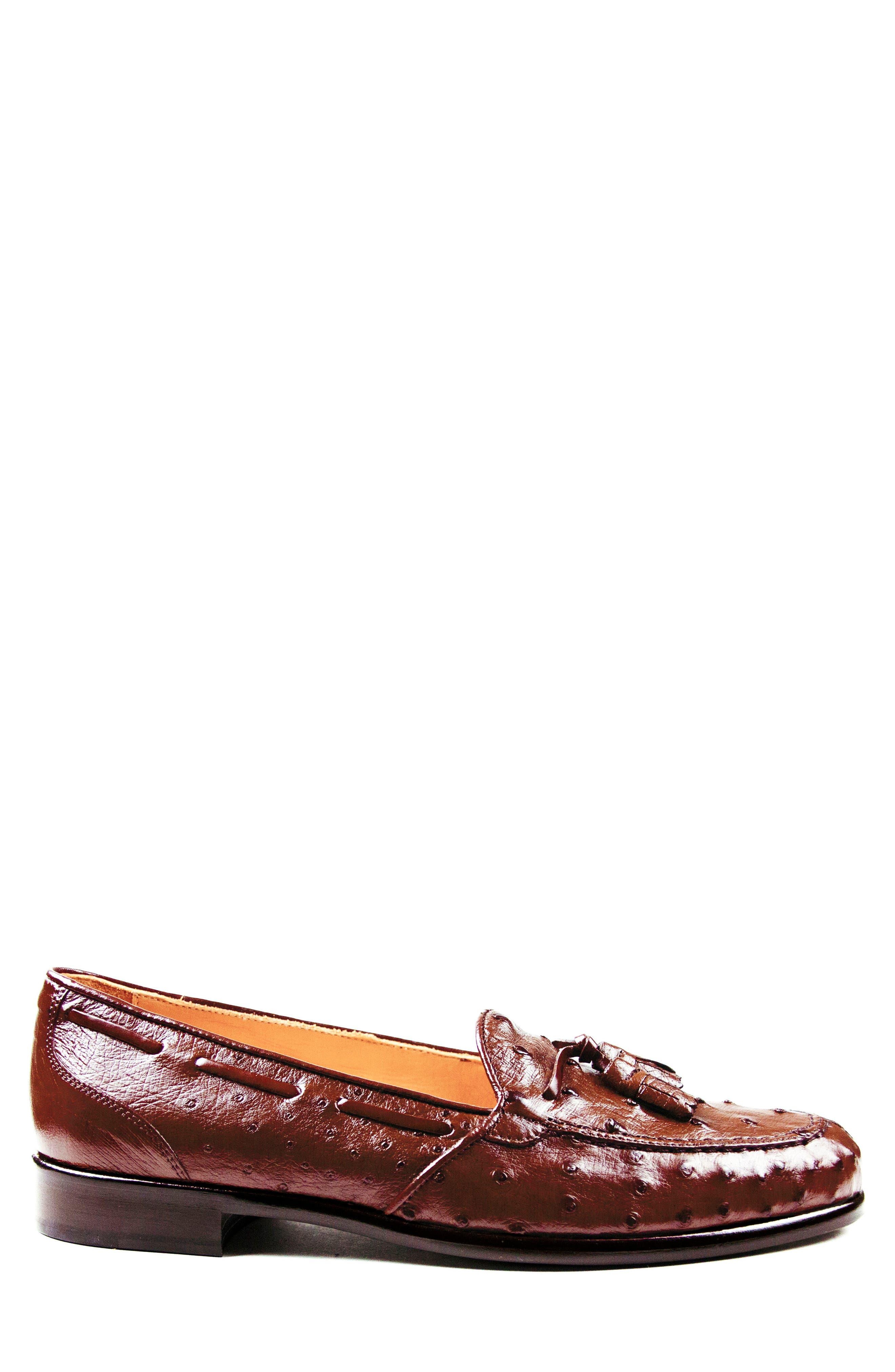 Franco Tassel Exotic Leather Loafer,                             Alternate thumbnail 6, color,