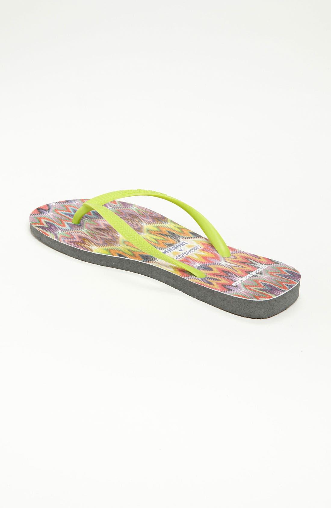 Missoni Loves Havaianas 'Slim - Rachel' Flip Flop,                             Alternate thumbnail 4, color,                             300