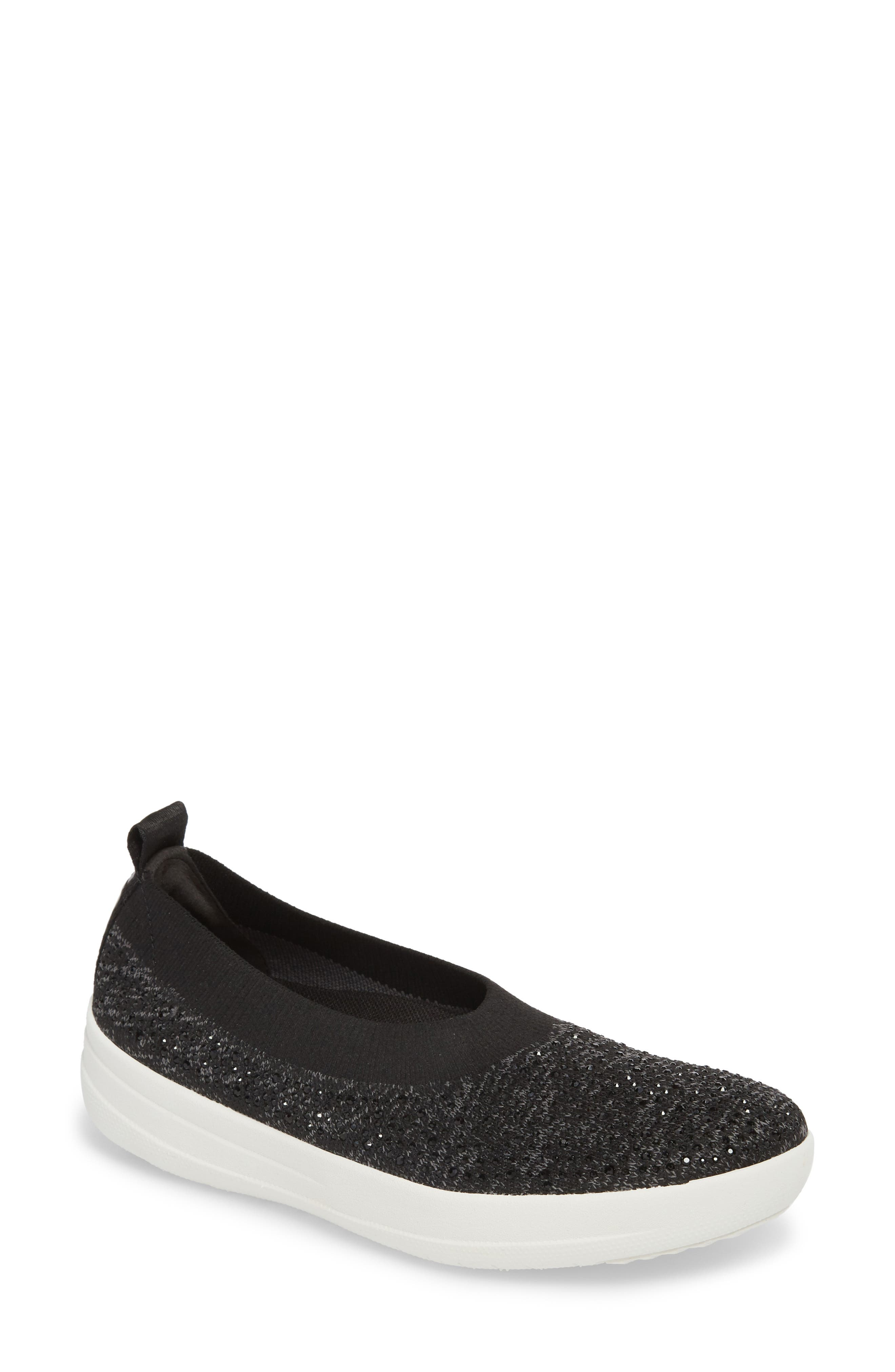 Uberknit Slip-On Sneaker,                             Main thumbnail 1, color,                             BLACK/ SOFT GREY