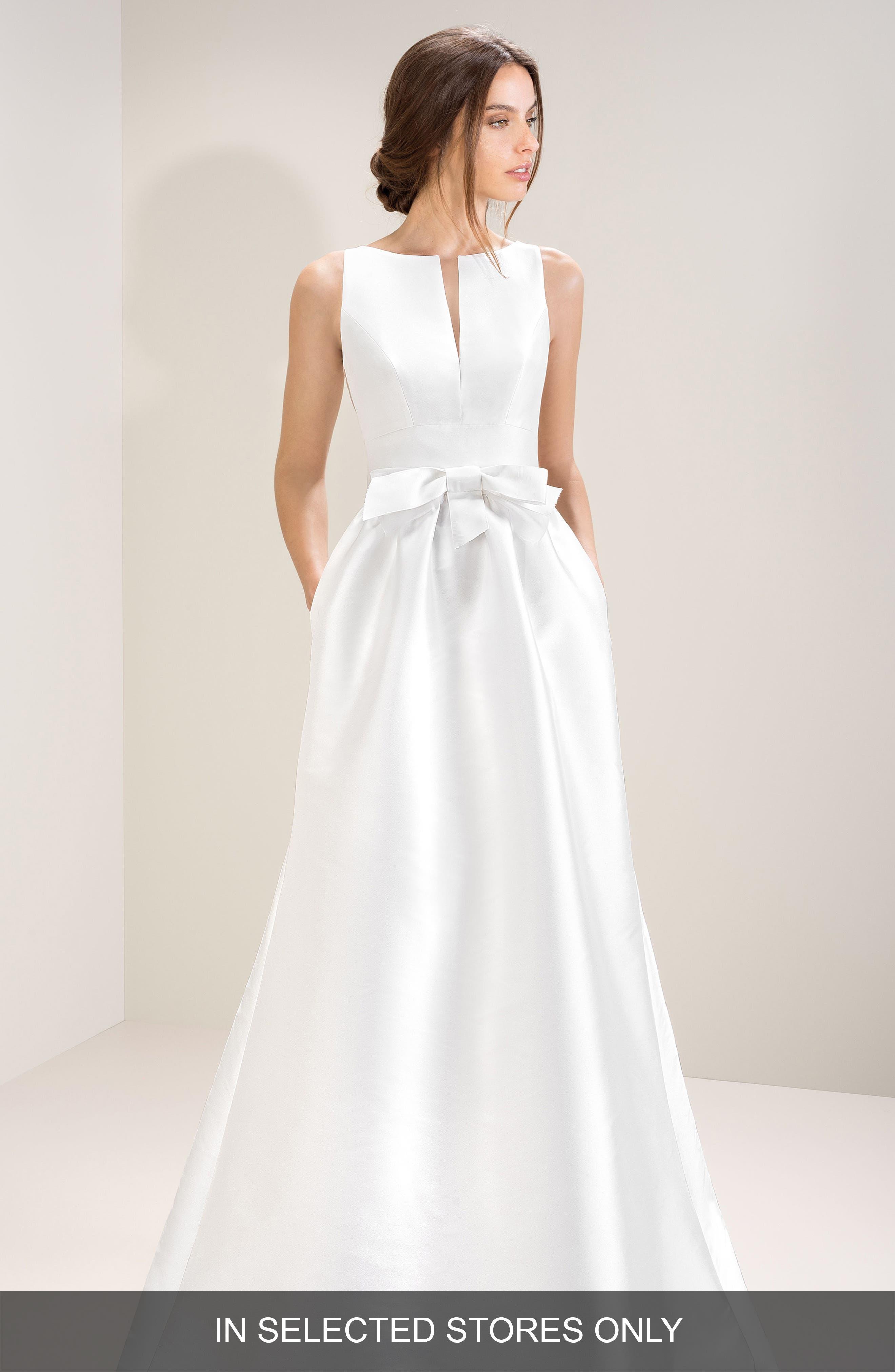 Jesus Peiro Taffeta Mikado Gown, Size IN STORE ONLY - White