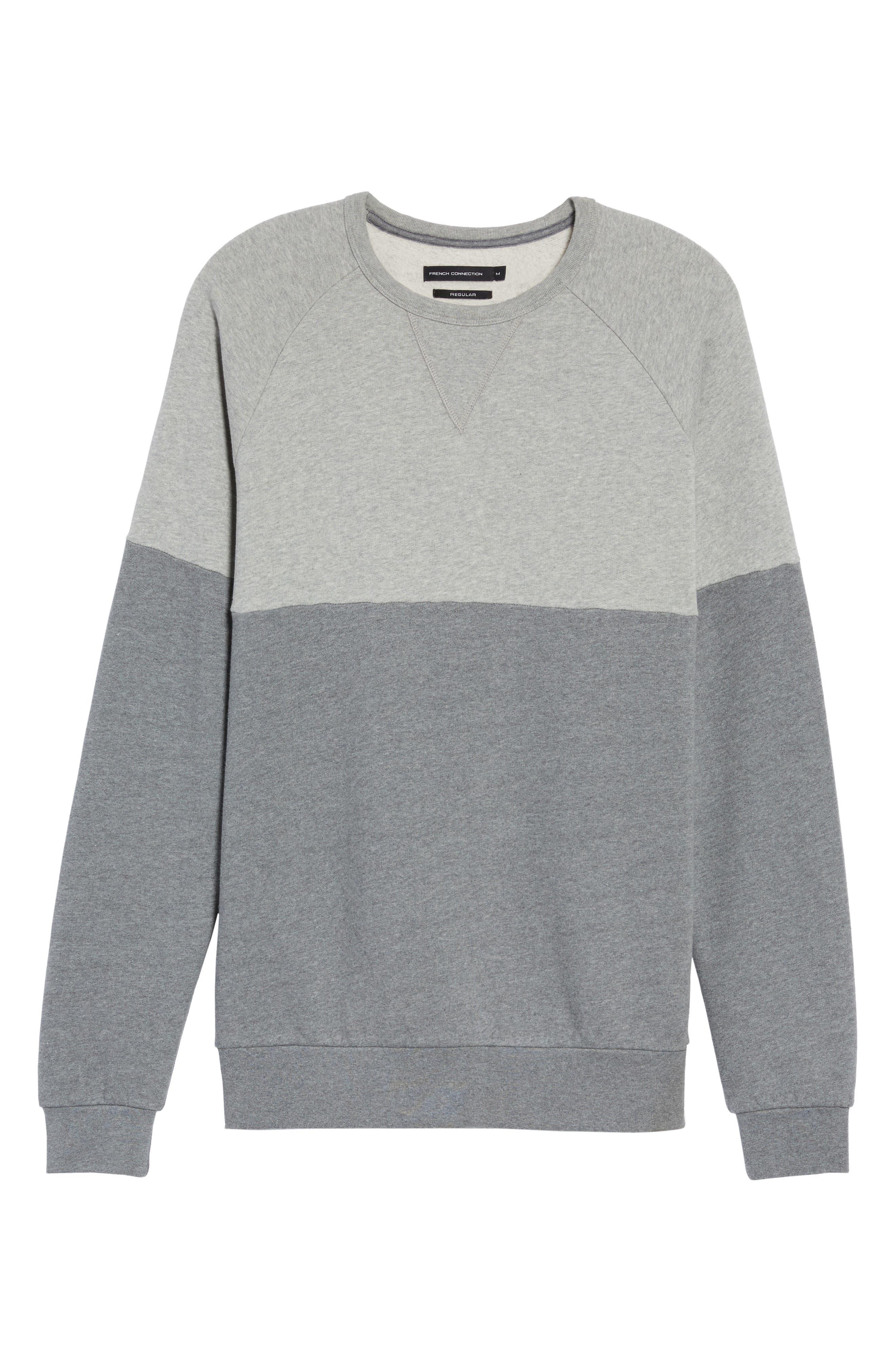 Multi Mélange Colorblock Sweatshirt,                             Alternate thumbnail 6, color,                             033