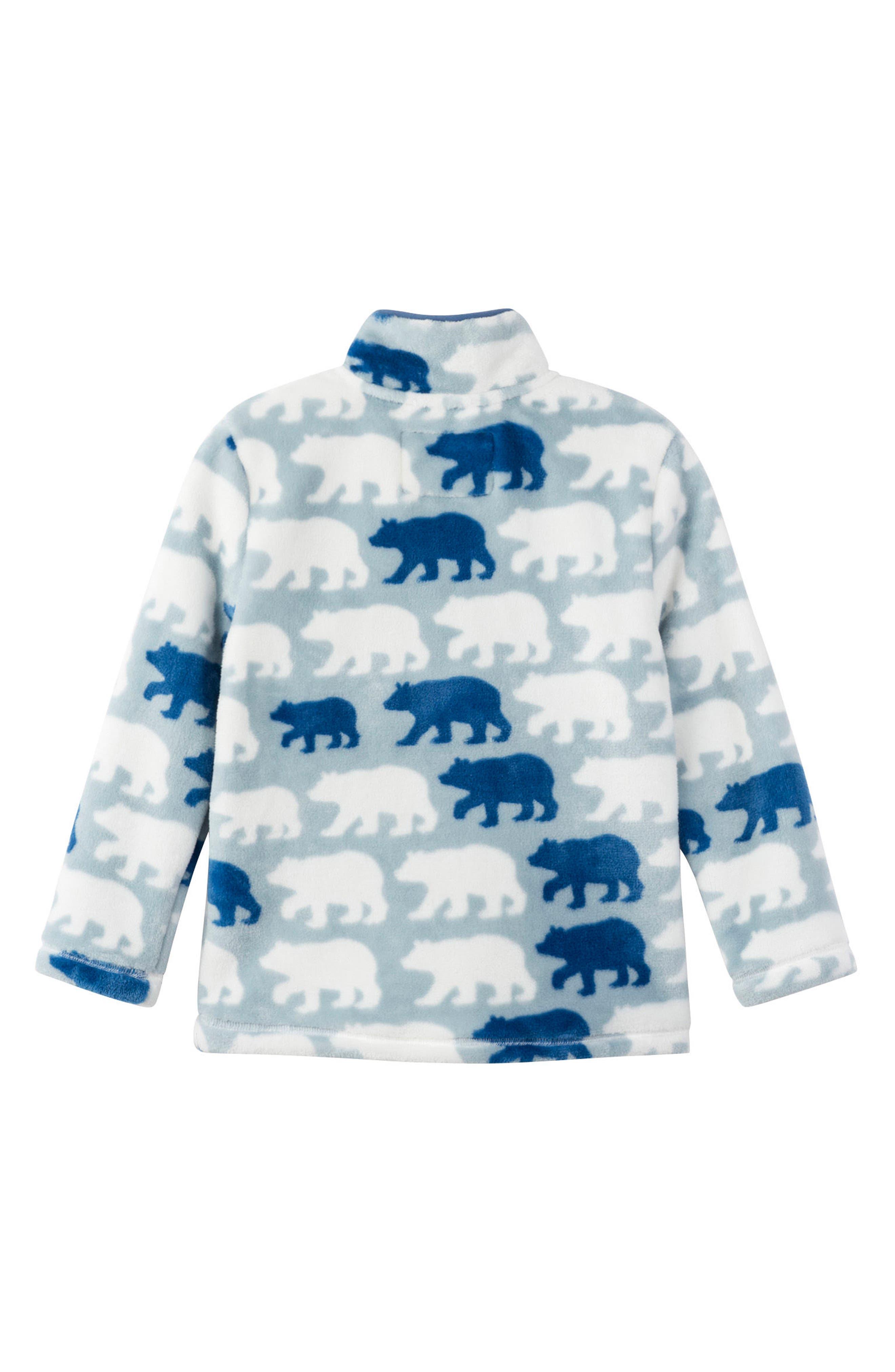 Polar Bear Fleece Jacket,                             Alternate thumbnail 2, color,                             BLUE