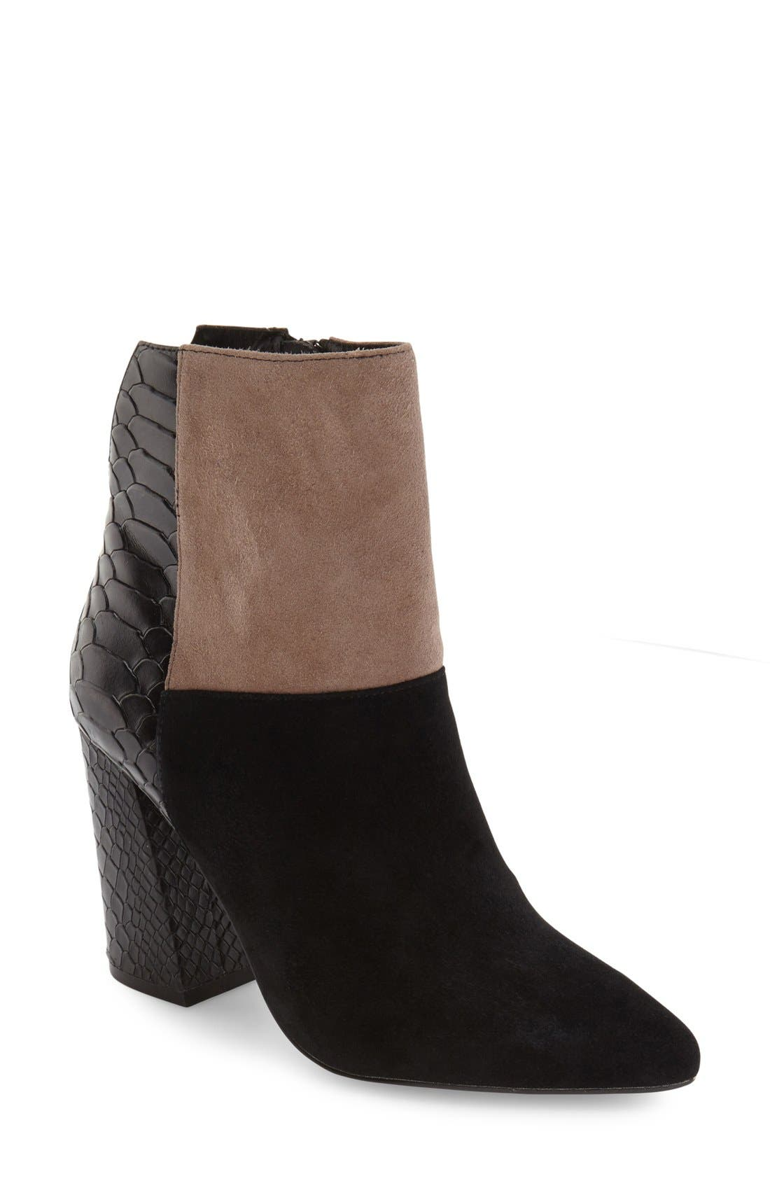 'Santorini' Colorblock Bootie,                             Main thumbnail 1, color,                             001