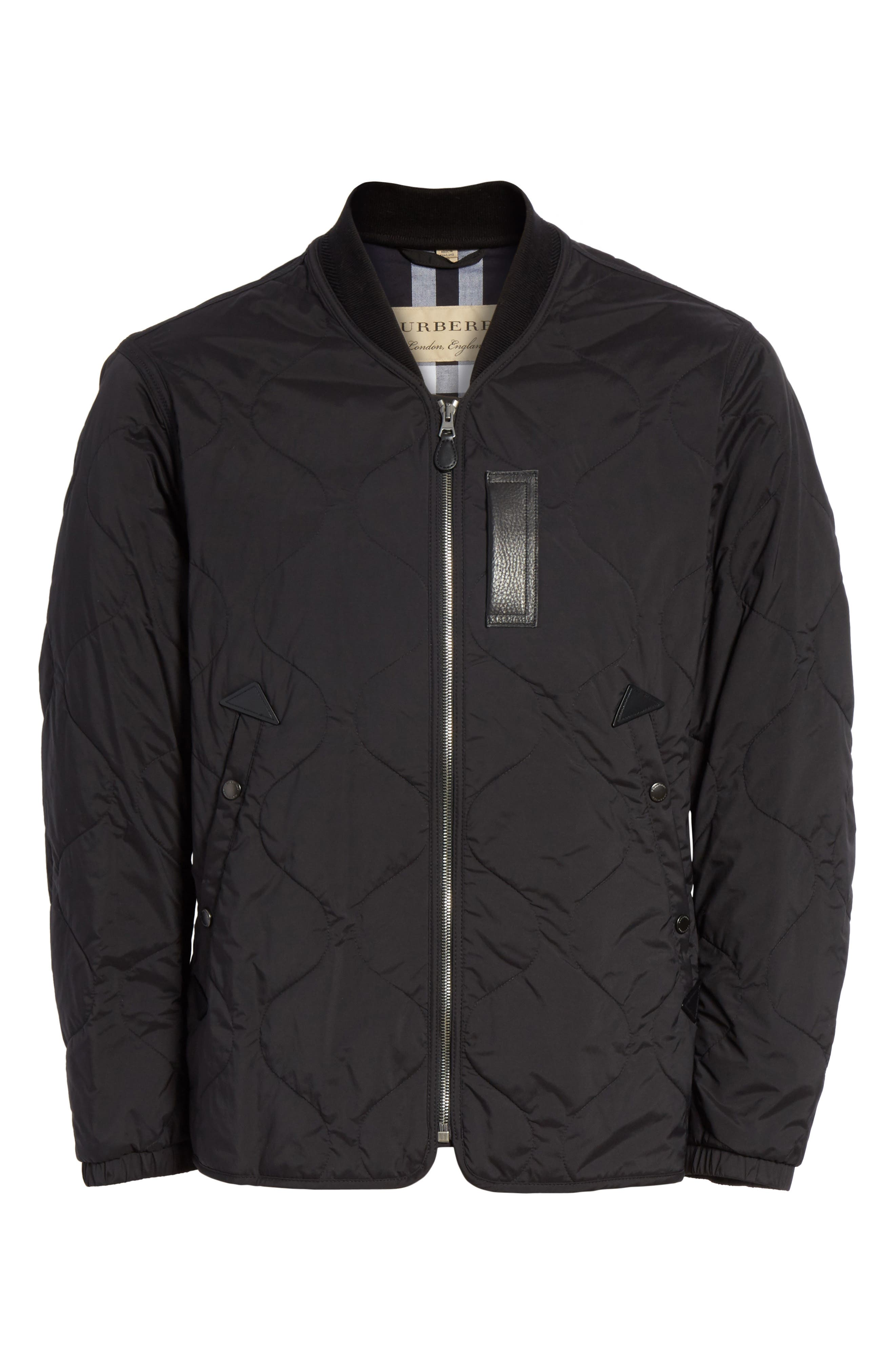 Marshall Quilted Tech Bomber Jacket,                             Alternate thumbnail 5, color,