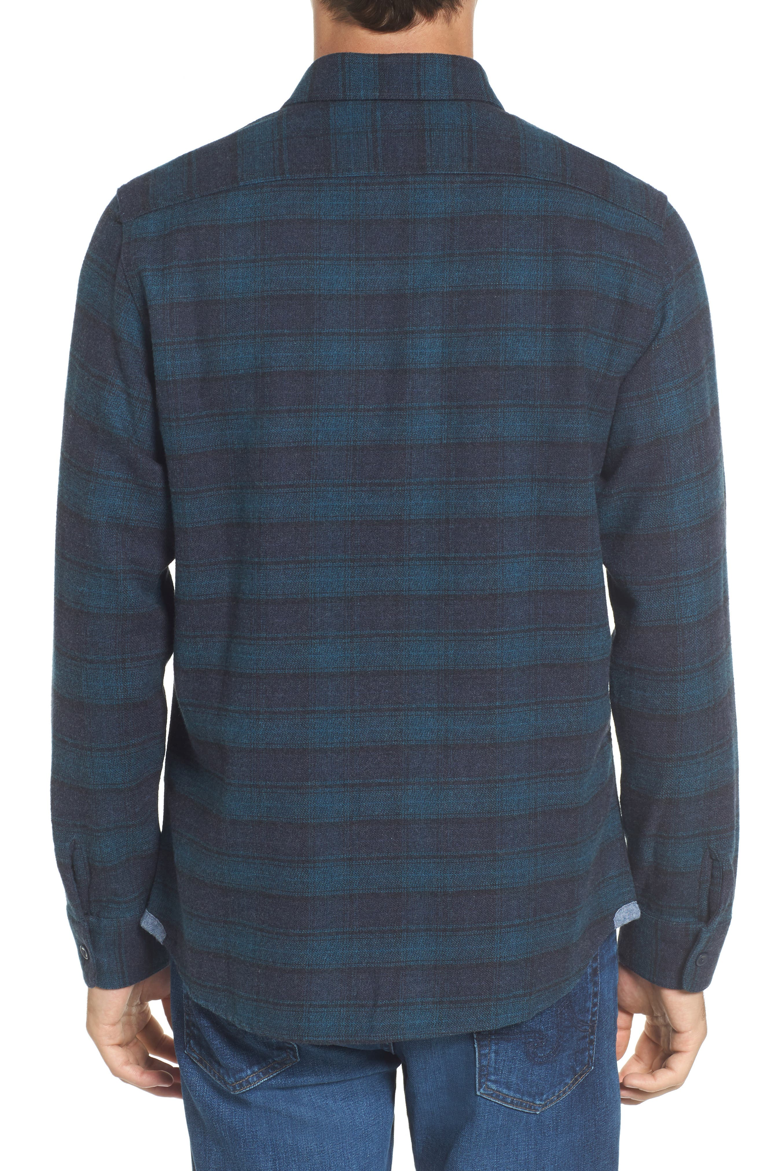 Cortland Heritage Modern Fit Flannel Sport Shirt,                             Alternate thumbnail 2, color,                             341