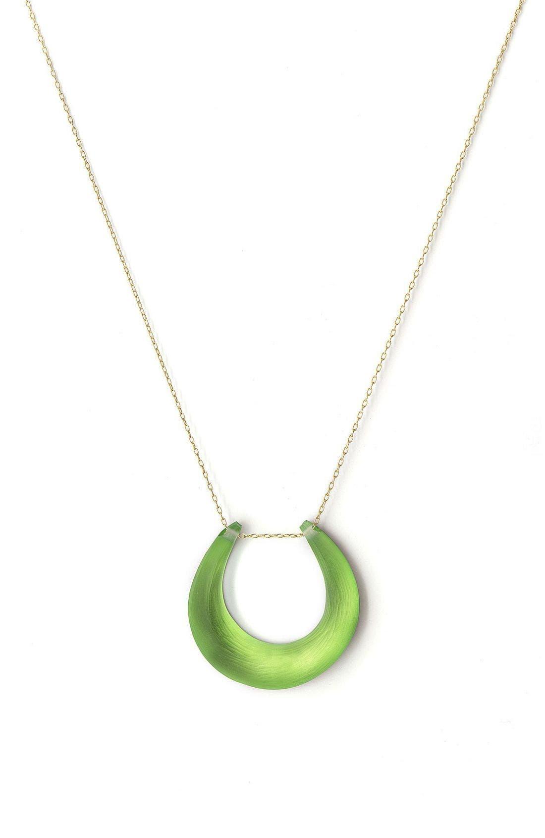 Small Horseshoe Necklace,                             Main thumbnail 10, color,