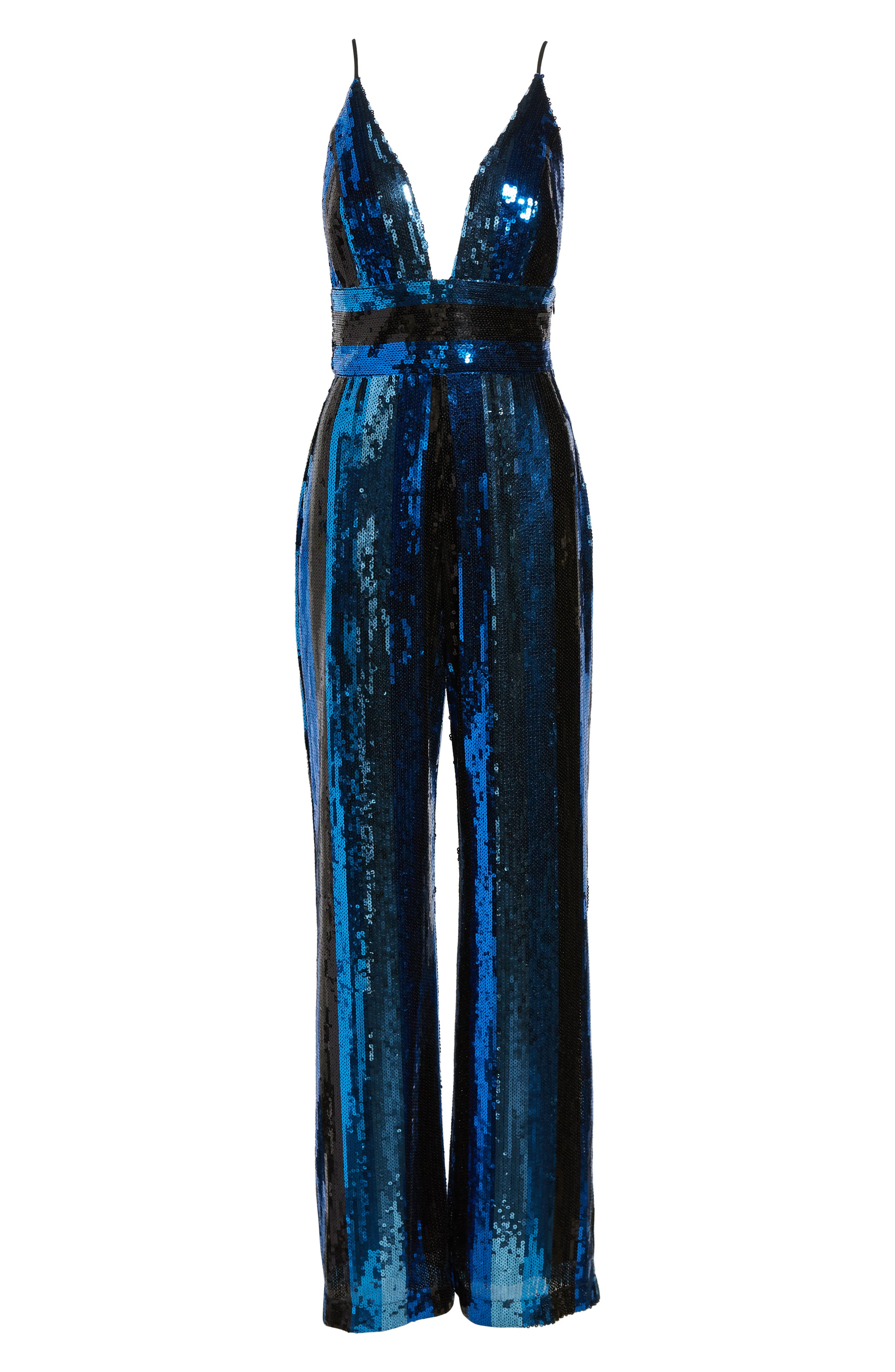 Sibyl Sequin Jumpsuit,                             Alternate thumbnail 7, color,                             400