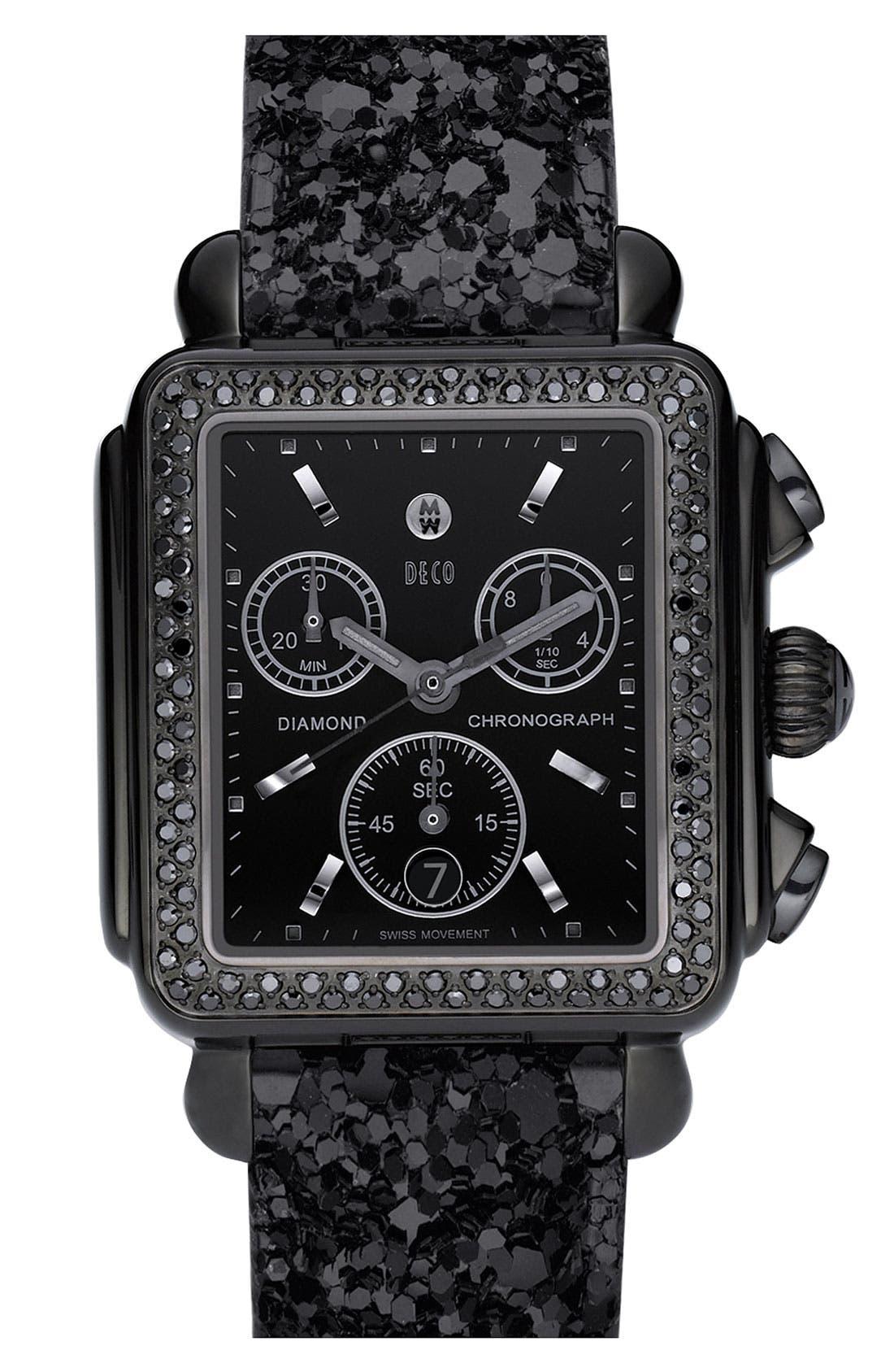 'Deco Noir' Diamond Watch Case,                             Alternate thumbnail 2, color,                             001