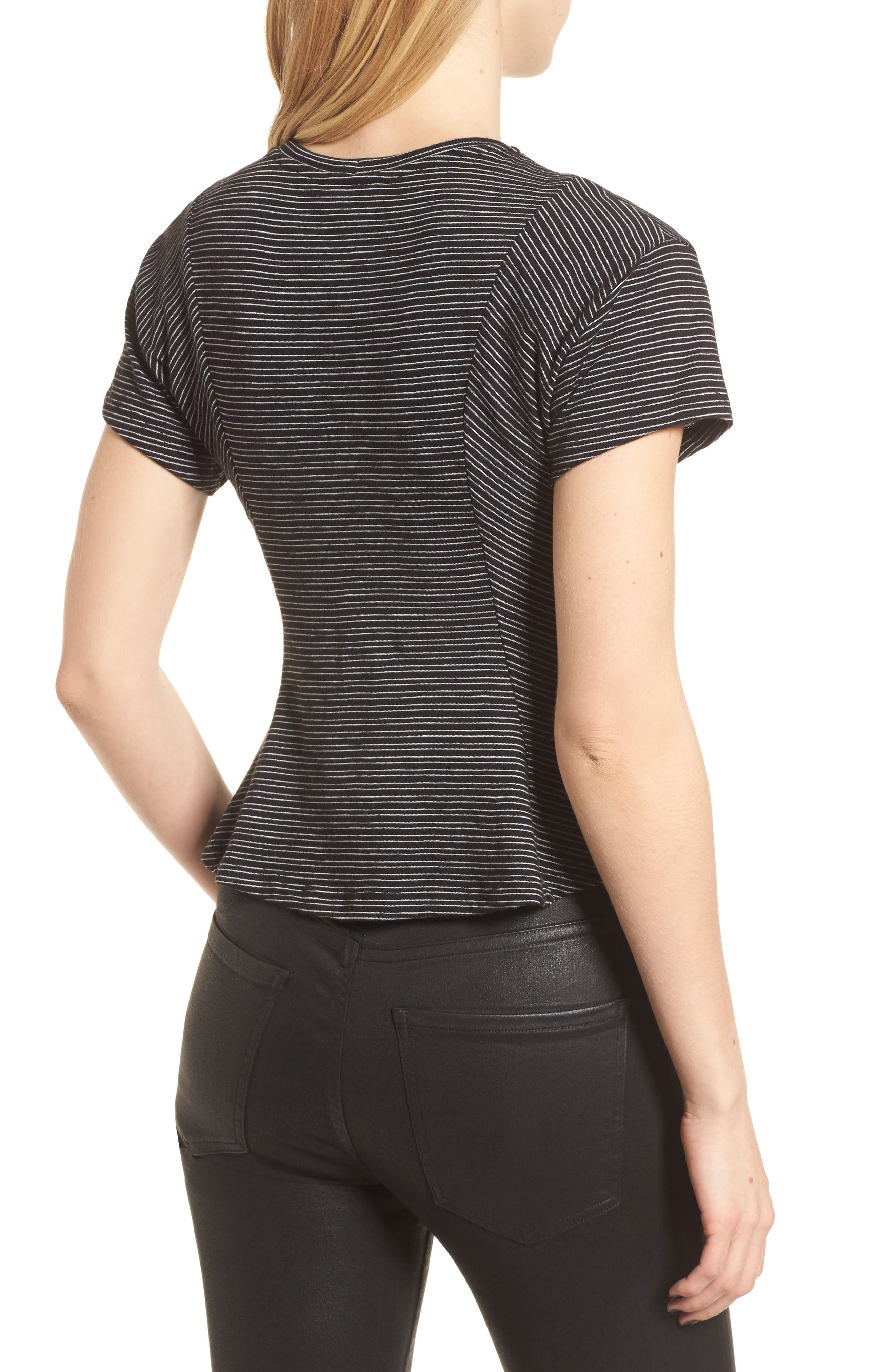Stripe Peplum Tee,                             Alternate thumbnail 3, color,