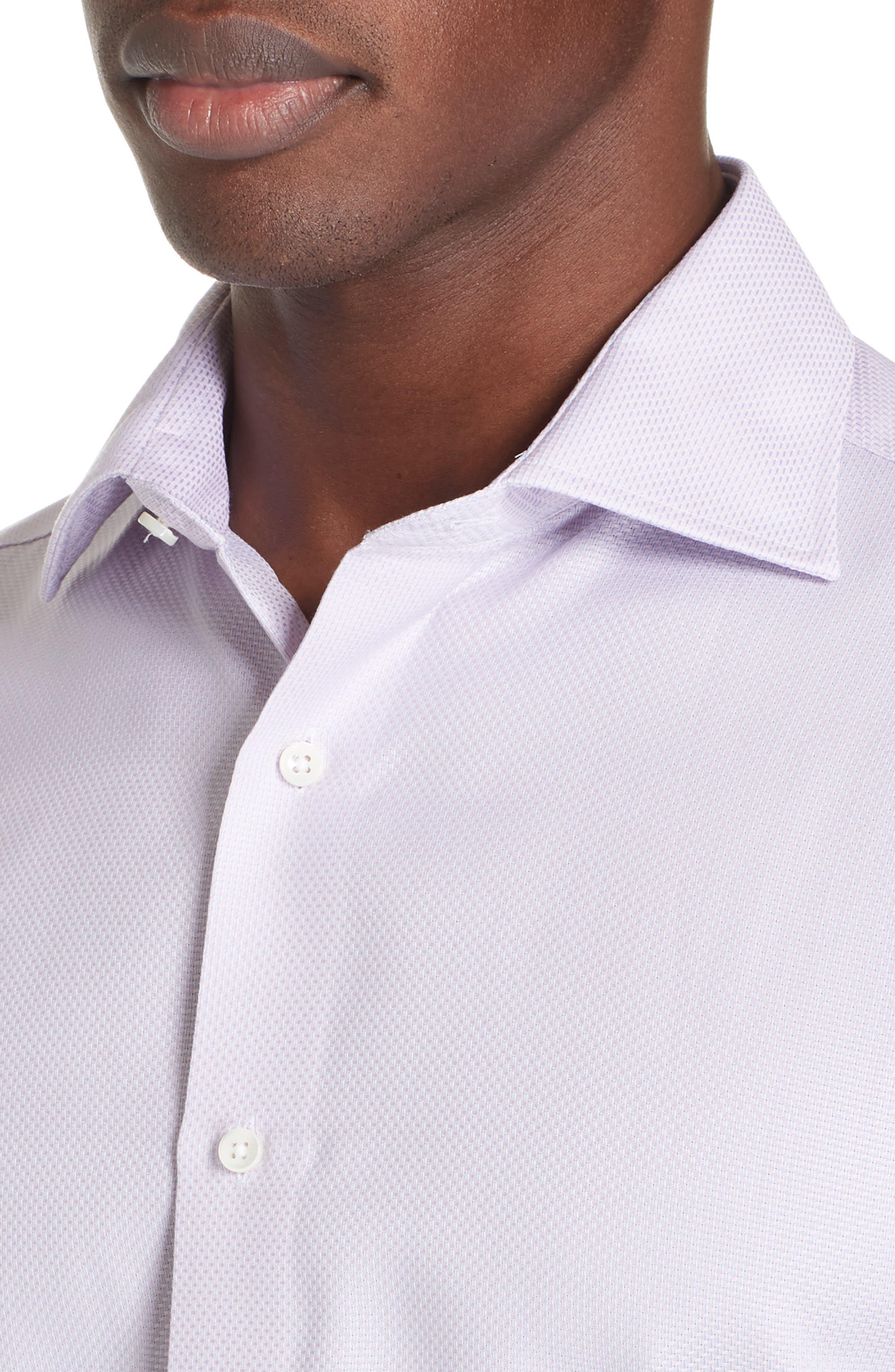 Trim Fit Solid Dress Shirt,                             Alternate thumbnail 2, color,                             LIGHT PINK