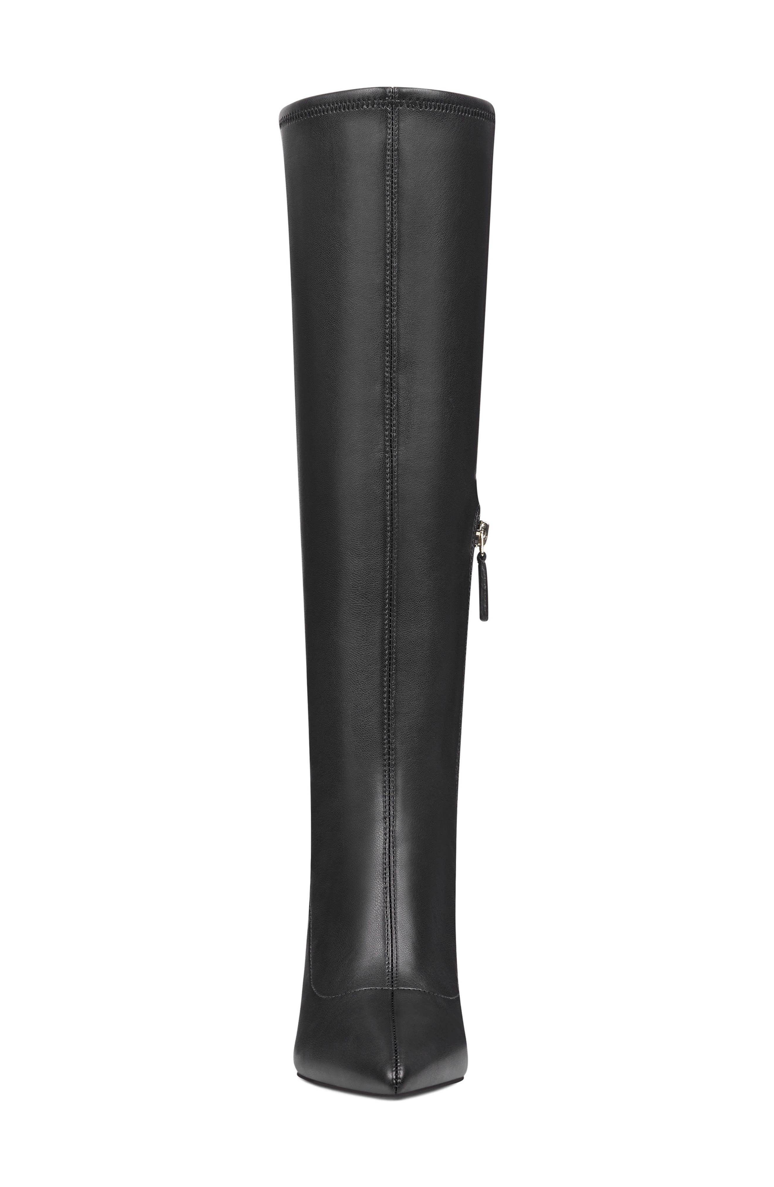 Jakinny Stretch Shaft Knee High Boot,                             Alternate thumbnail 4, color,                             BLACK