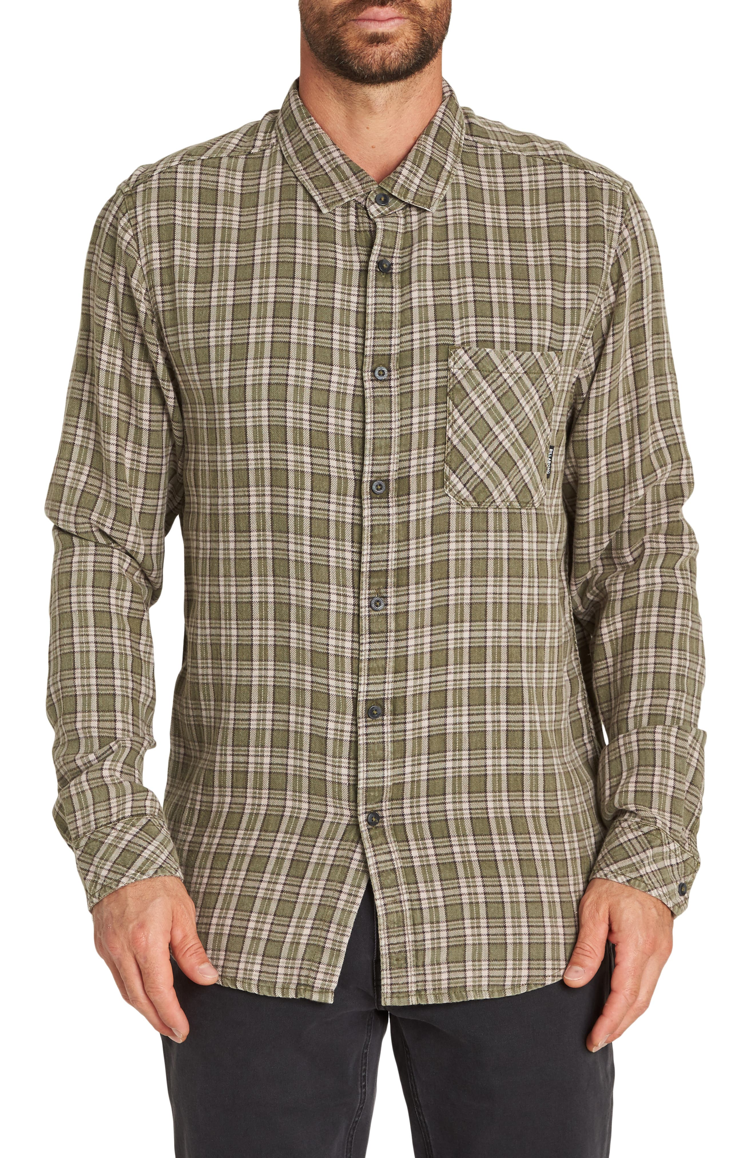 Billabong Freemont Flannel Shirt, Blue