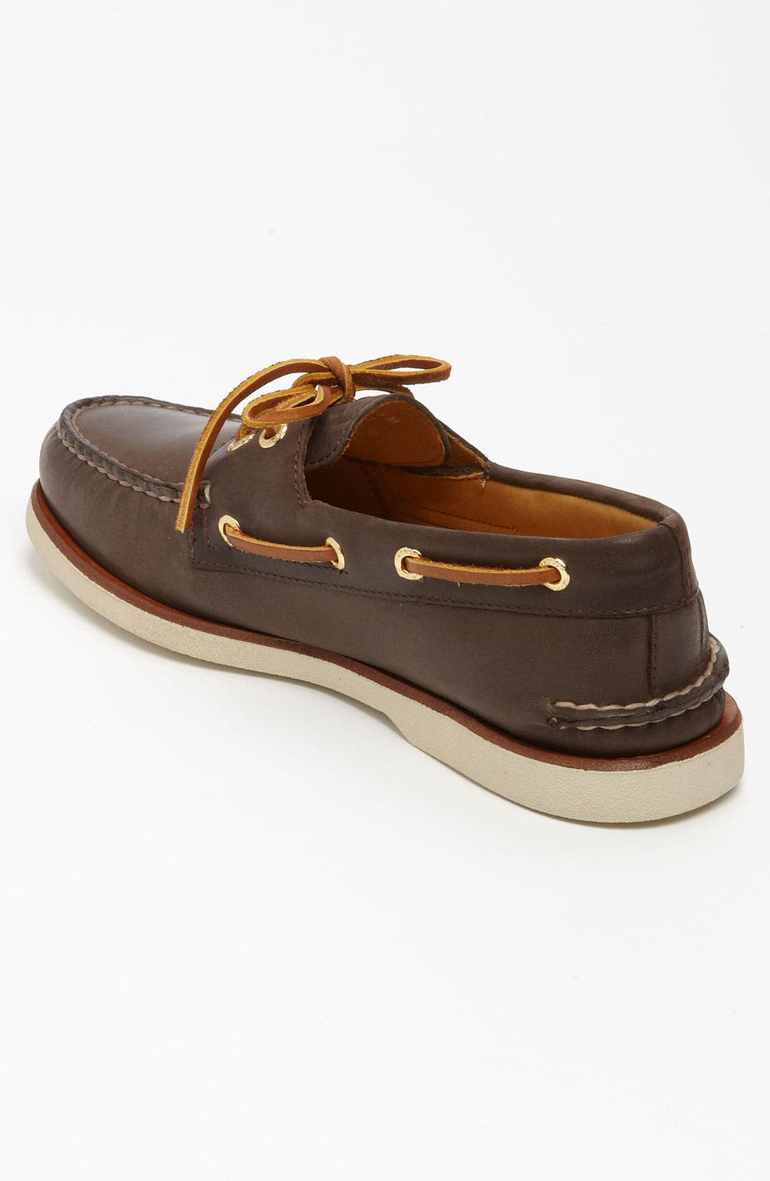 'Gold Cup - Authentic Original' Boat Shoe,                             Alternate thumbnail 2, color,                             DARK BROWN LEATHER