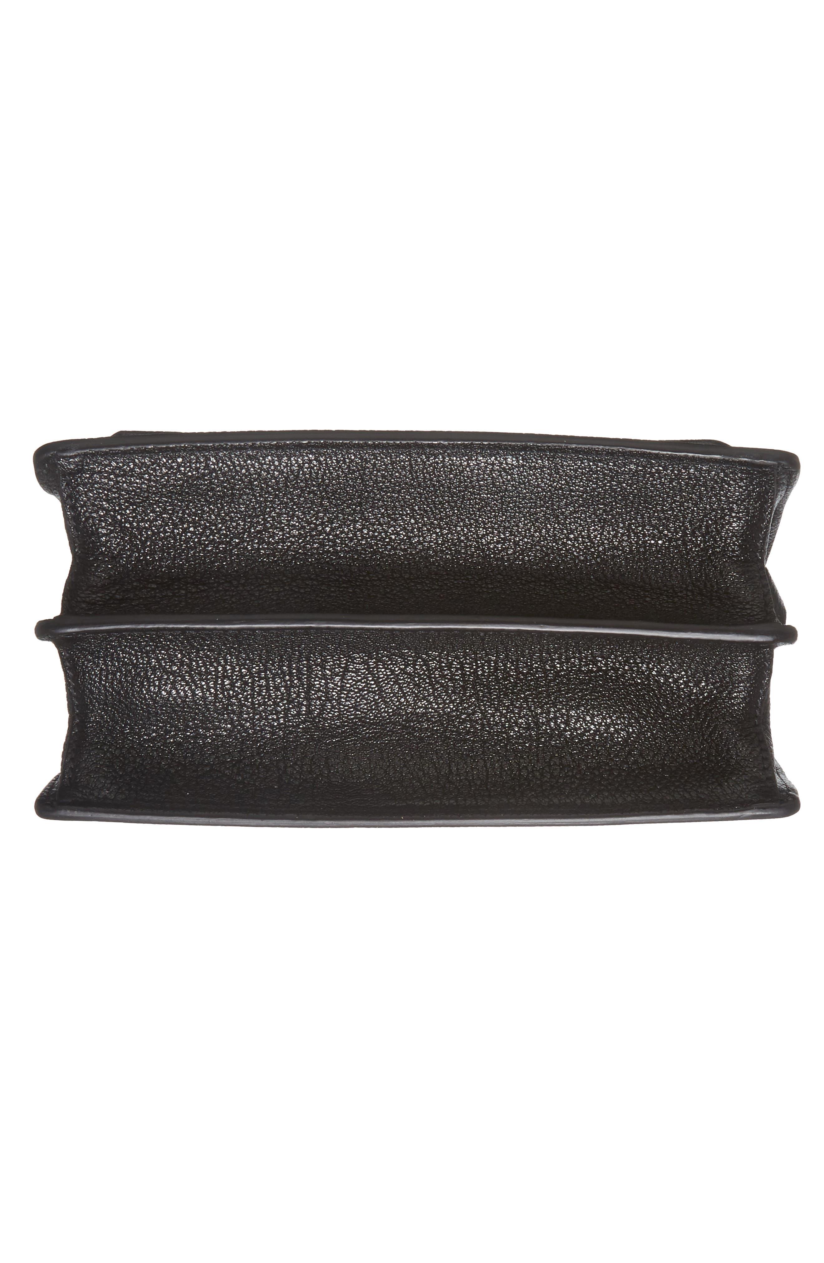 Madras Leather Crossbody Bag,                             Alternate thumbnail 6, color,                             001
