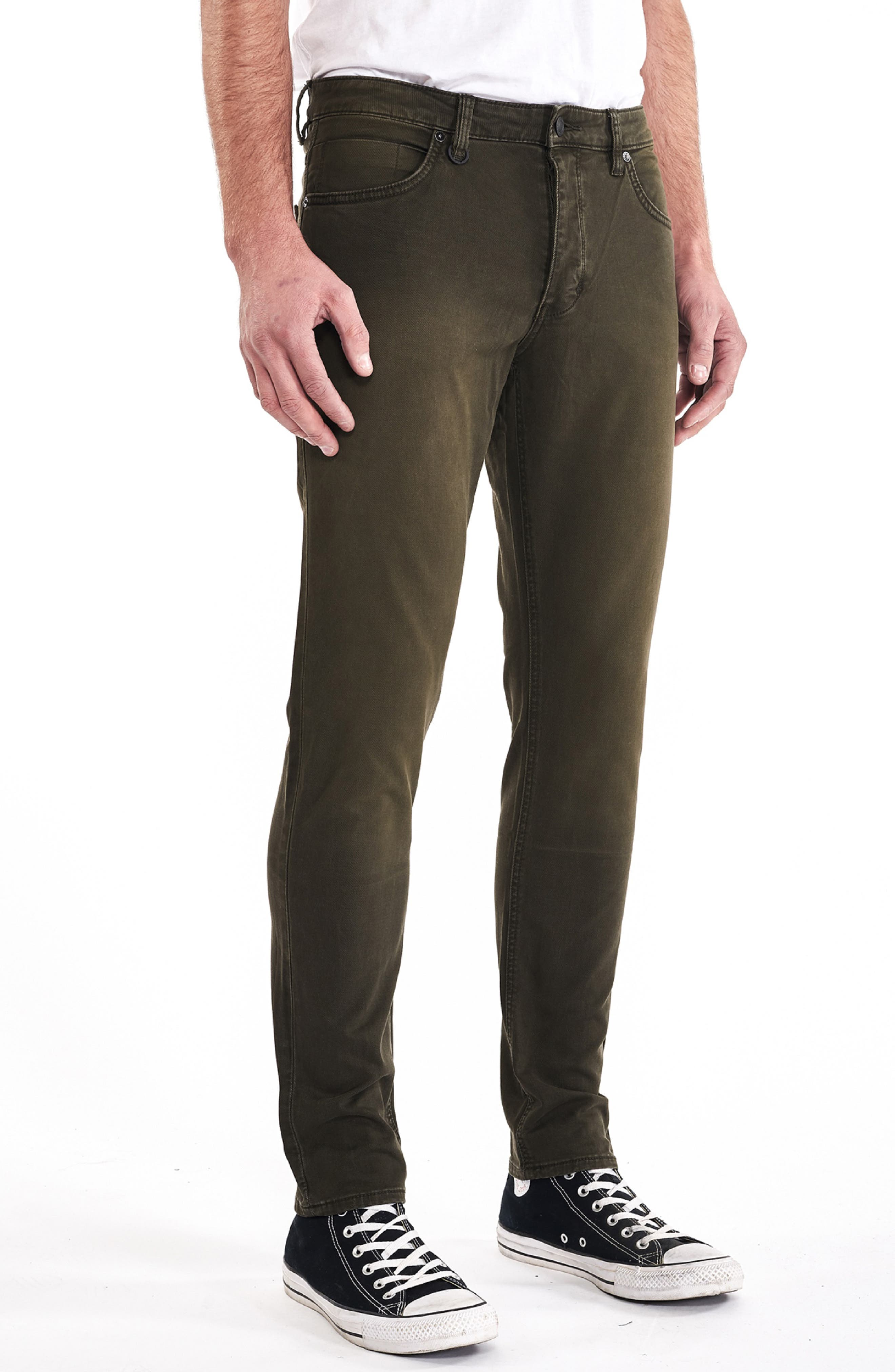 Lou Slim Fit Jeans,                             Alternate thumbnail 3, color,                             ARMAGEDDON GREEN