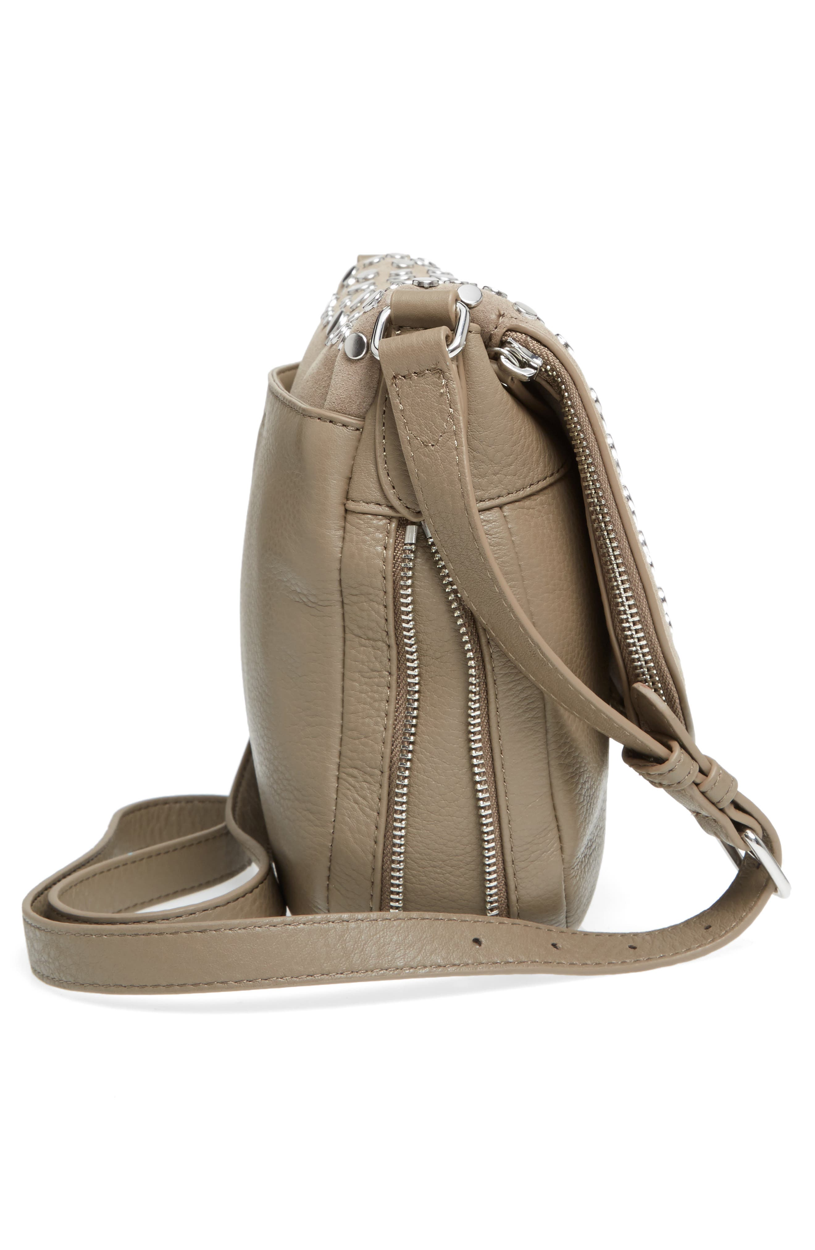 Bonny Studded Leather Crossbody Bag,                             Alternate thumbnail 10, color,