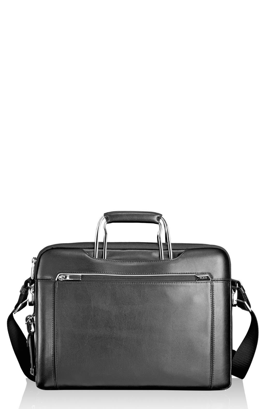 'Arrivé - Hamilton' Leather Briefcase,                             Main thumbnail 1, color,                             007