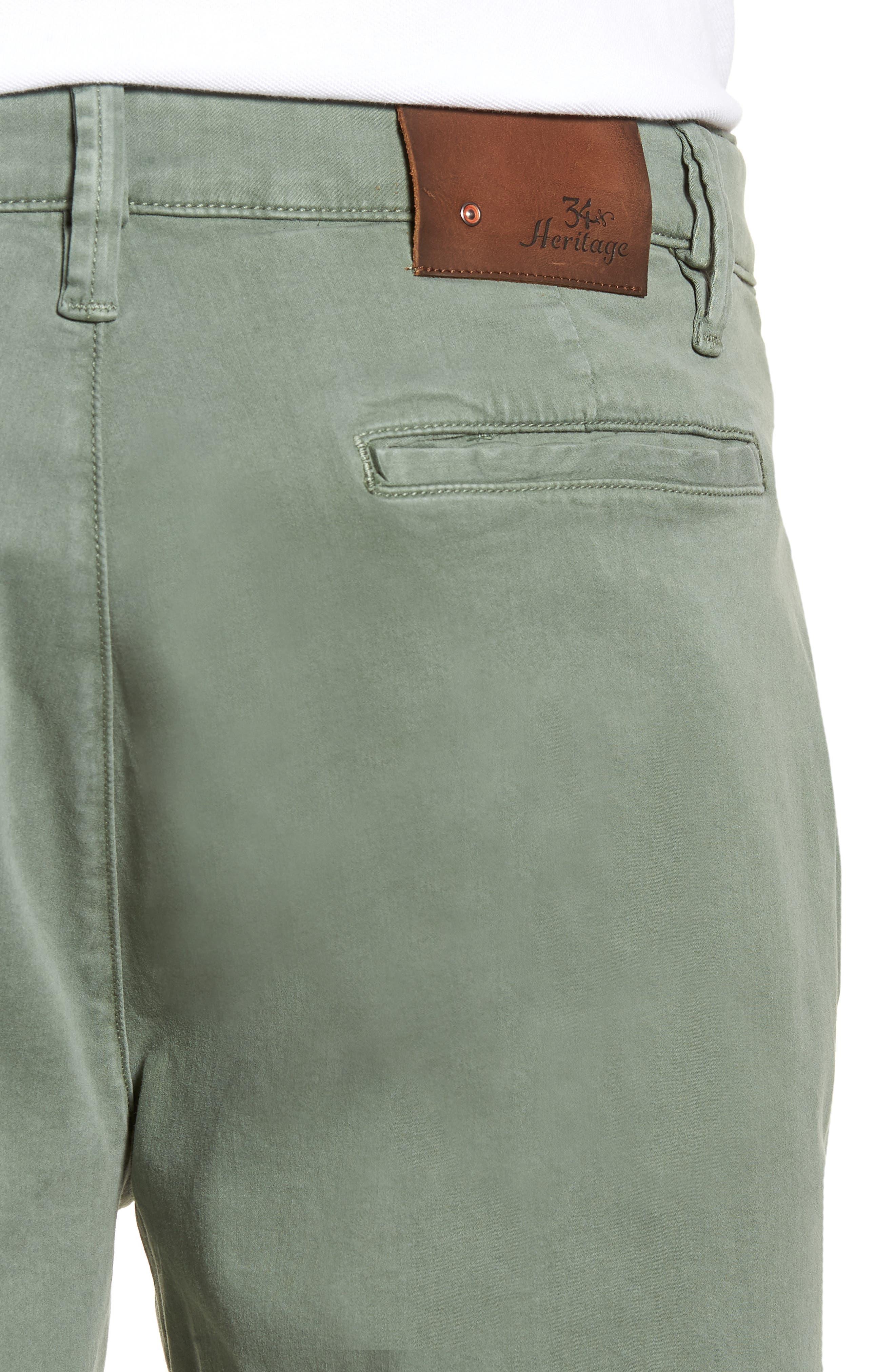 34 HERITAGE,                             Nevada Twill Shorts,                             Alternate thumbnail 4, color,                             MOSS TWILL