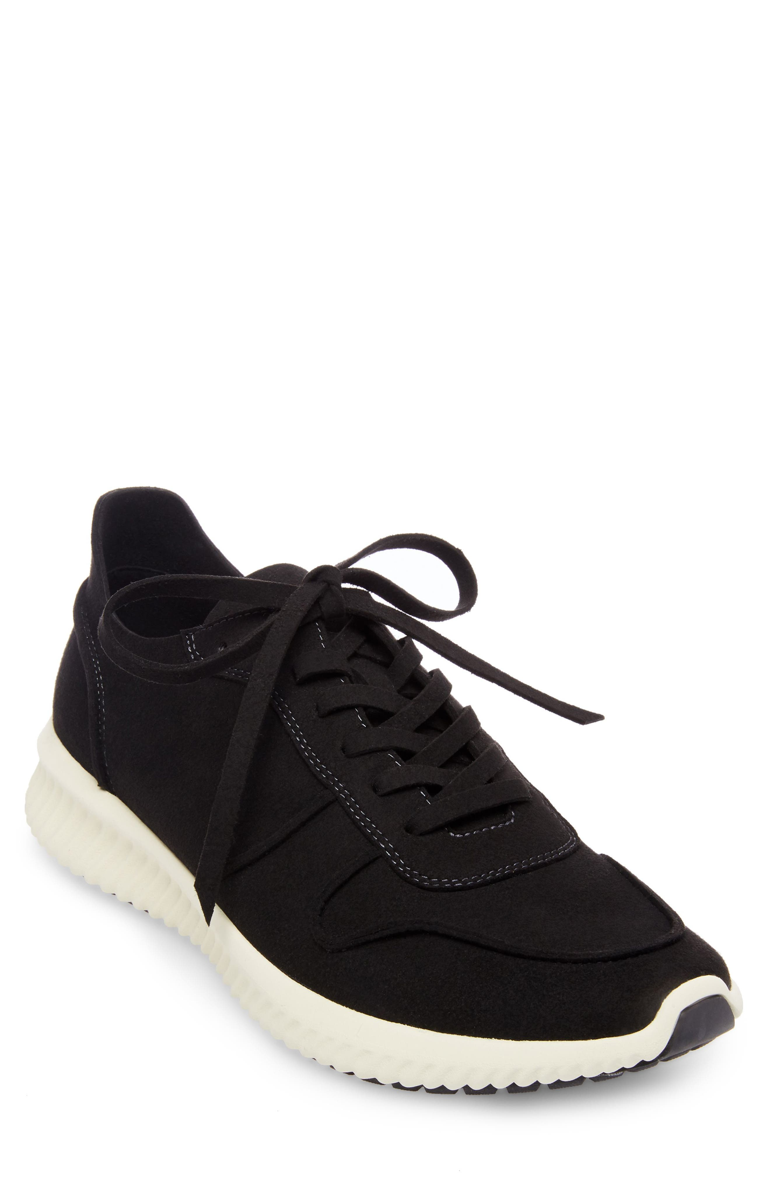 Rolf Low Top Sneaker,                         Main,                         color, BLACK LEATHER