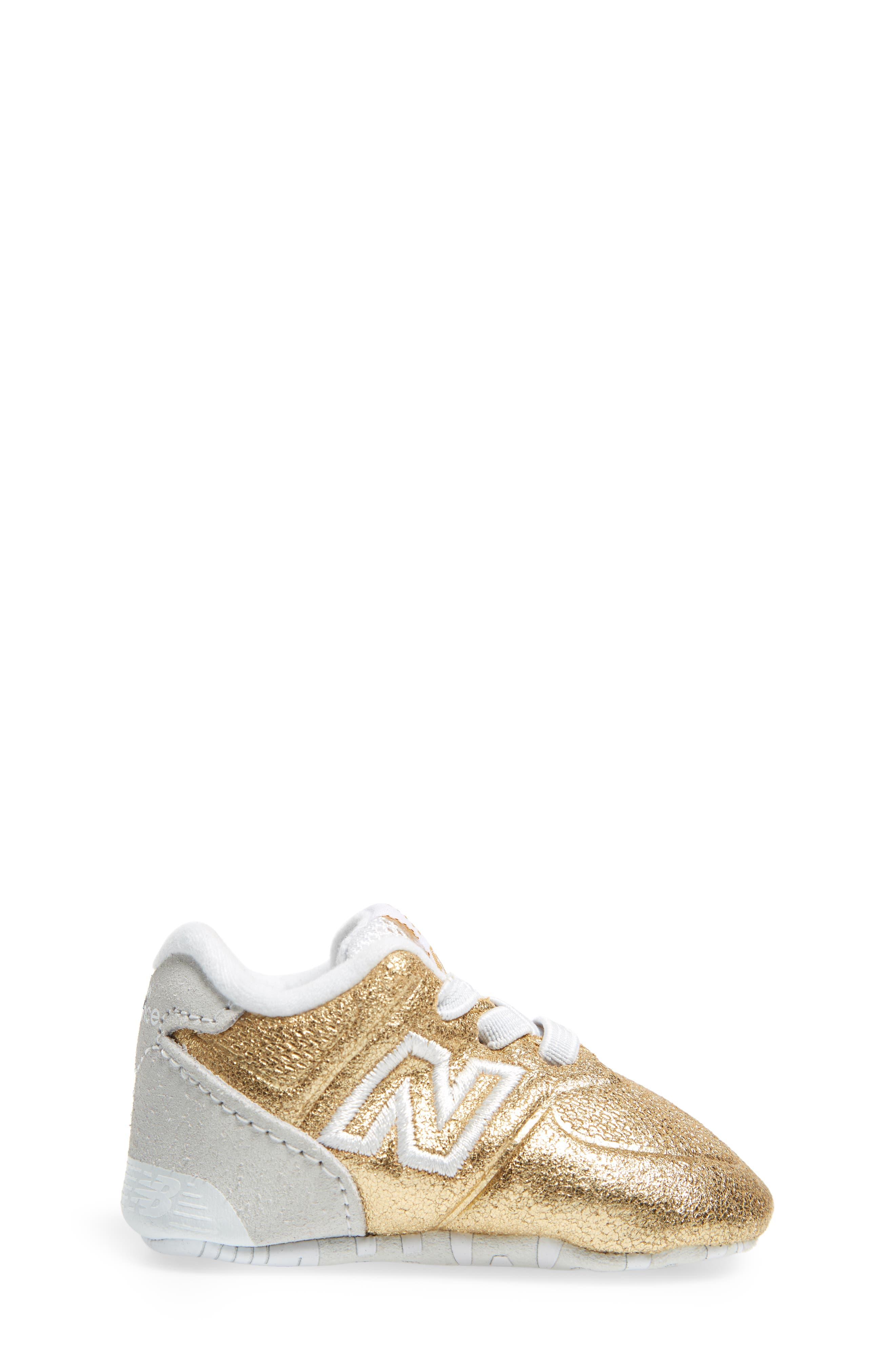 574 Metallic Crib Sneaker,                             Alternate thumbnail 6, color,