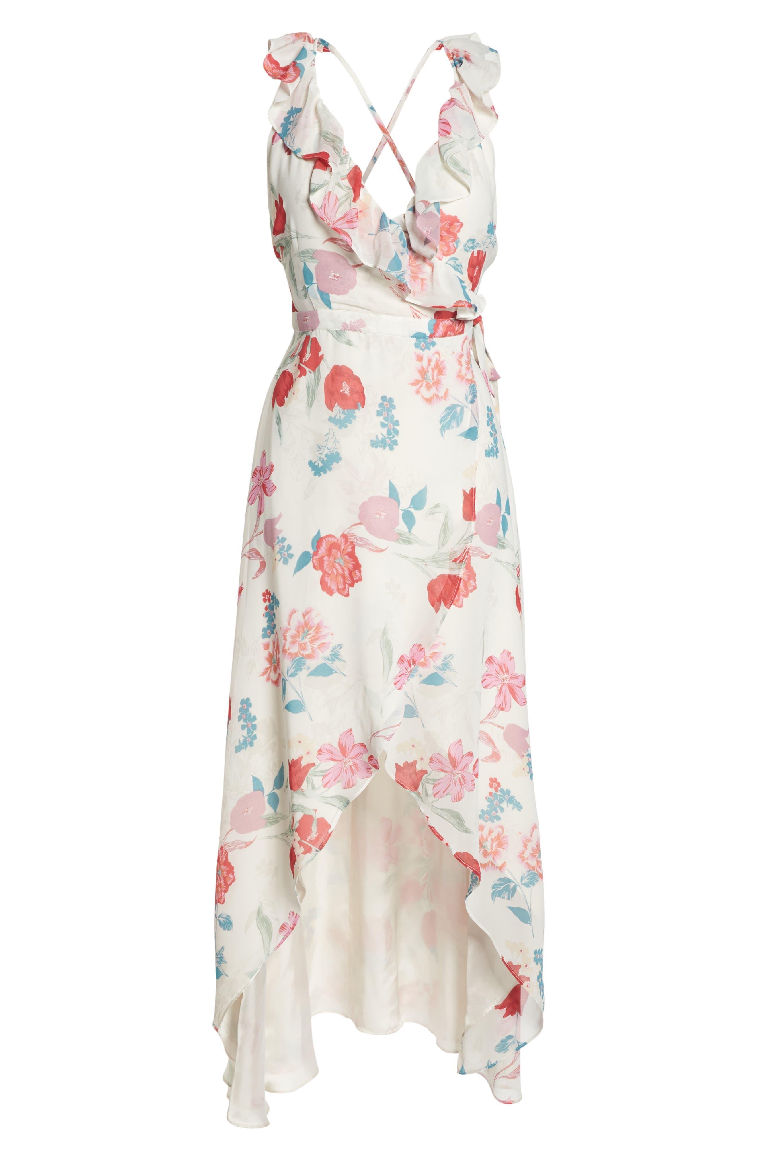 RSVP High/Low Wrap Dress,                             Alternate thumbnail 6, color,                             900
