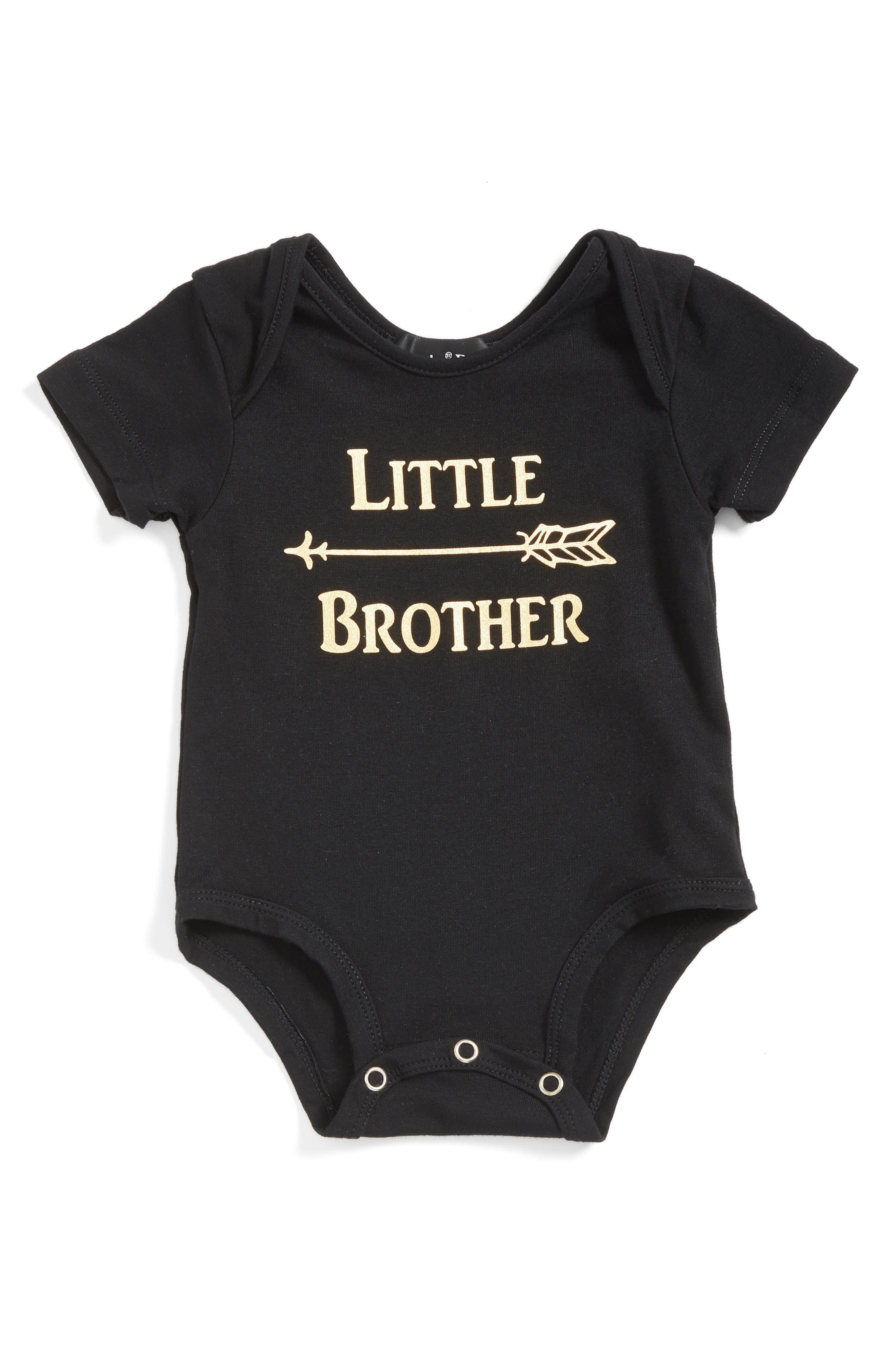 Little Brother Bodysuit,                         Main,                         color, BLACK